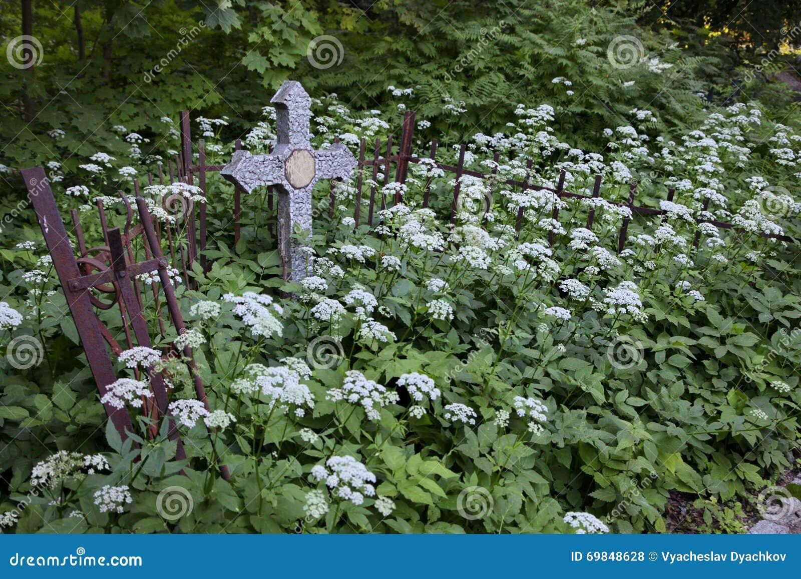Kruisen in het kerkhof
