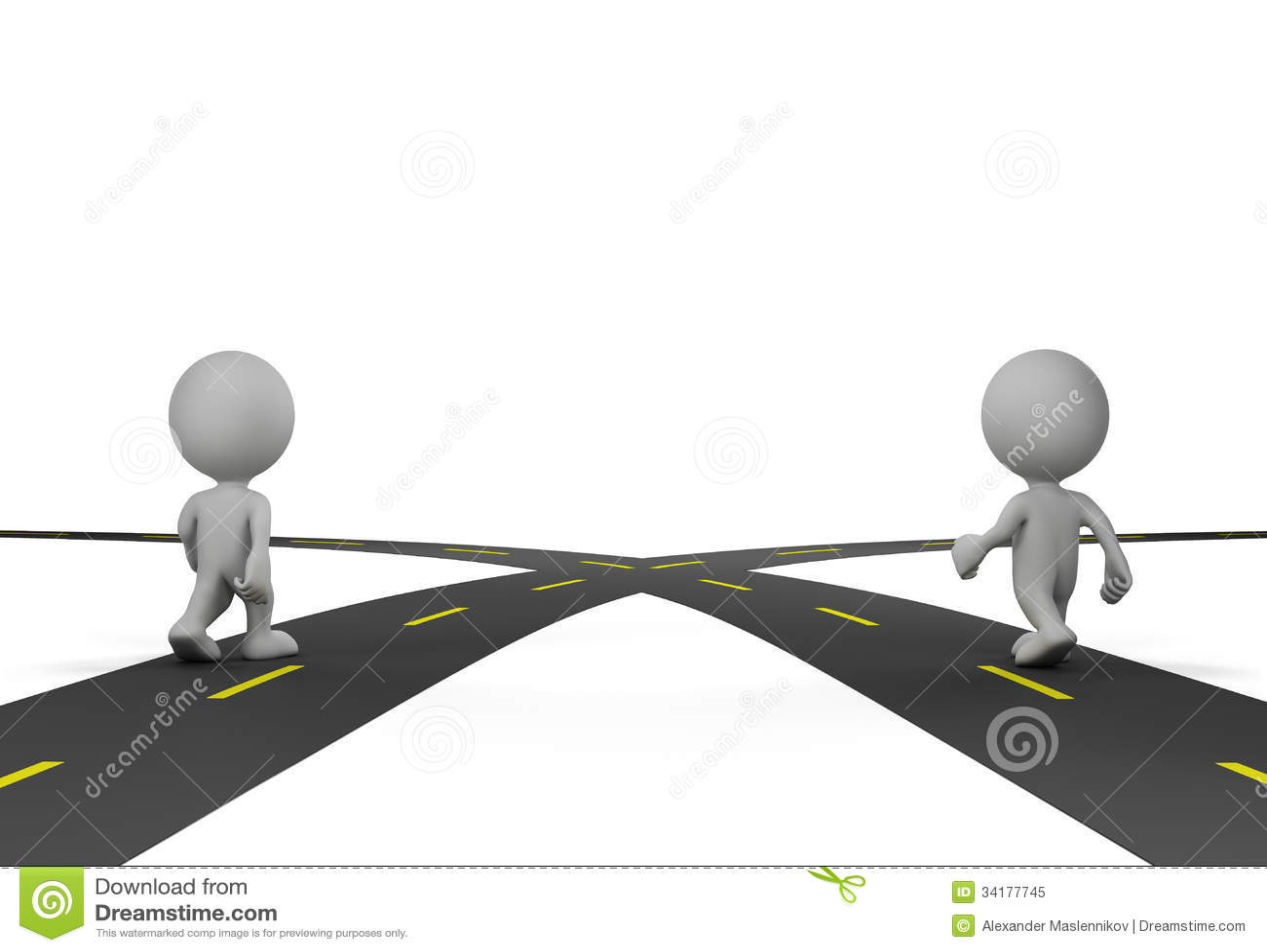 Kruising van twee wegen