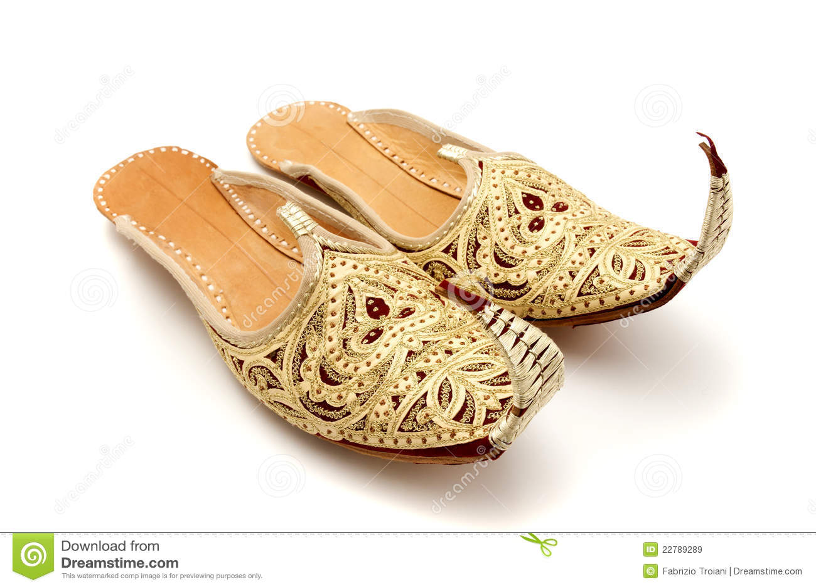 Krullend toed pantoffels