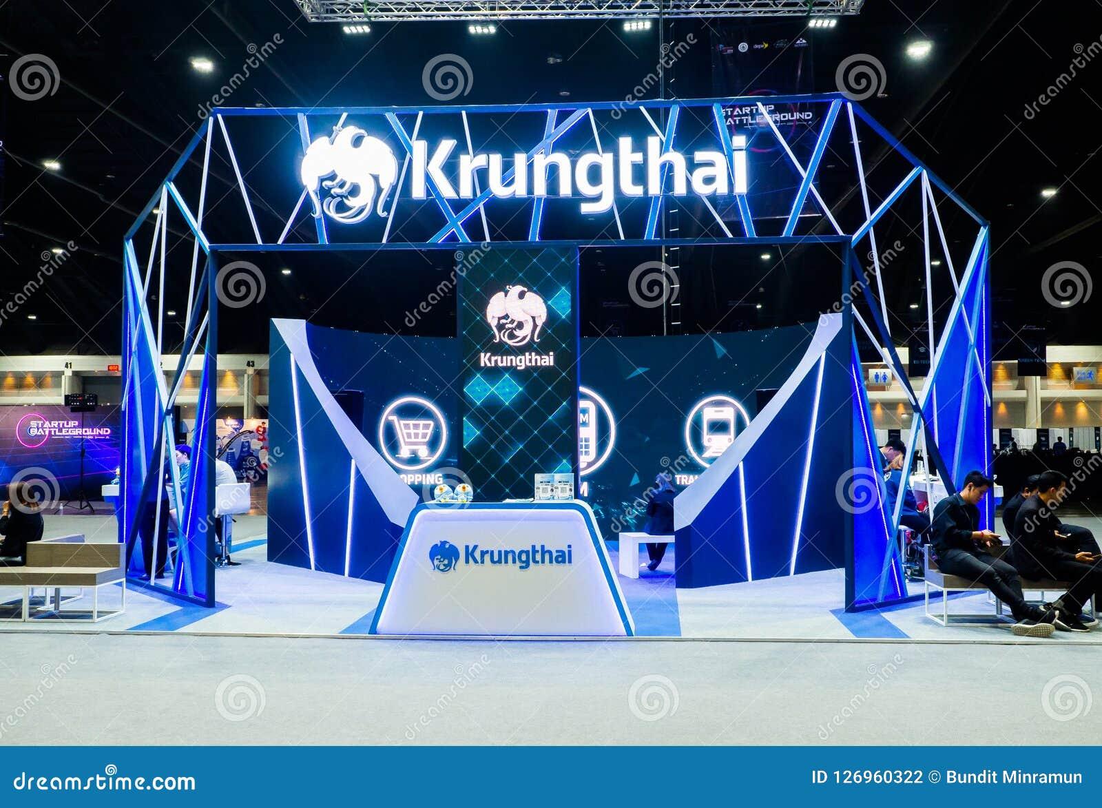Krung Thai or Krungthai Bank Public Company被限制在陈列摊