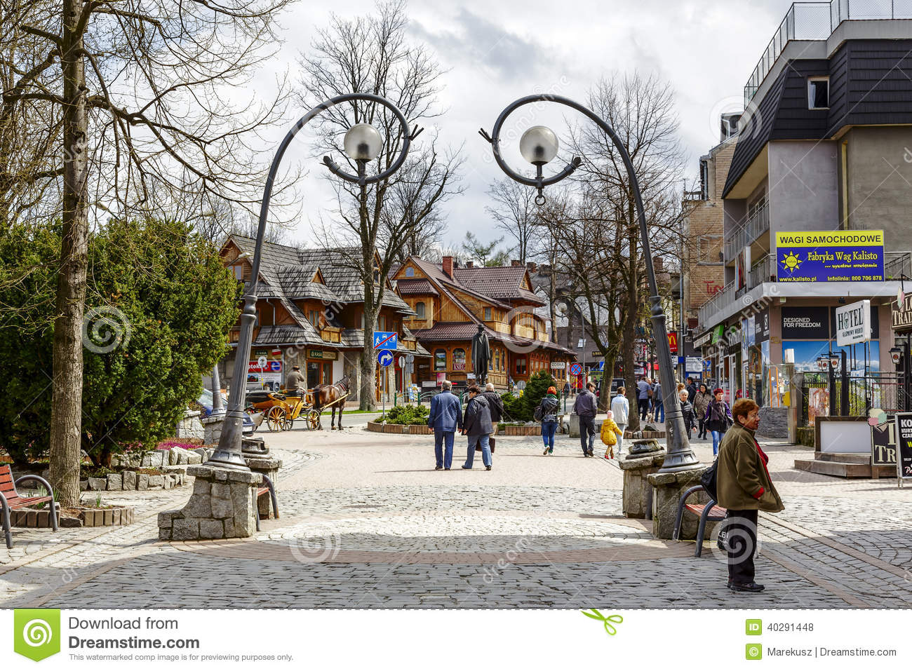 Krupowki Main Street In Zakopane Editorial Stock Photo Image 40291448