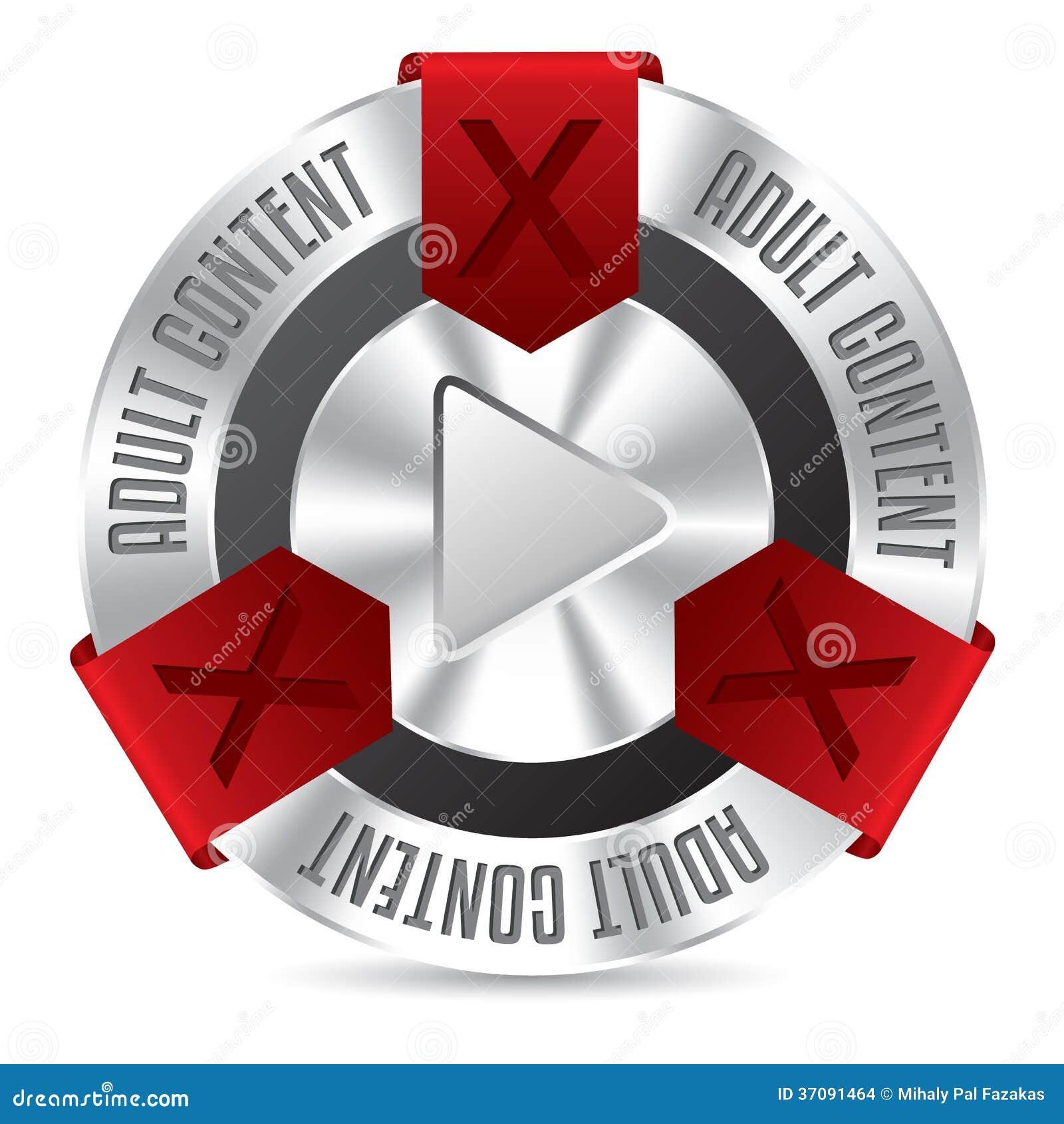 Download Kruszcowa XXX odznaka ilustracja wektor. Ilustracja złożonej z pornograficzny - 37091464