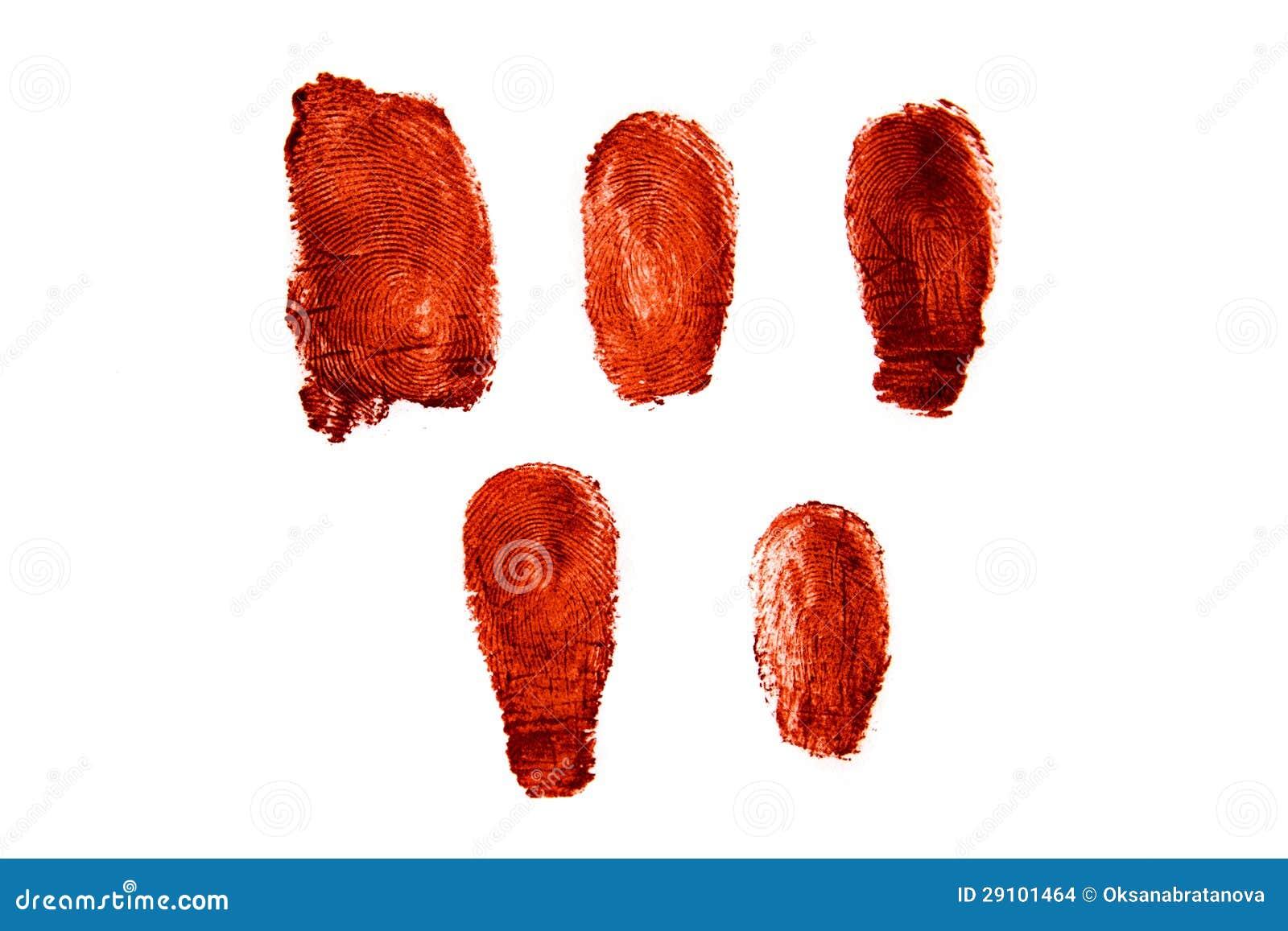 Krwiści odciski palca