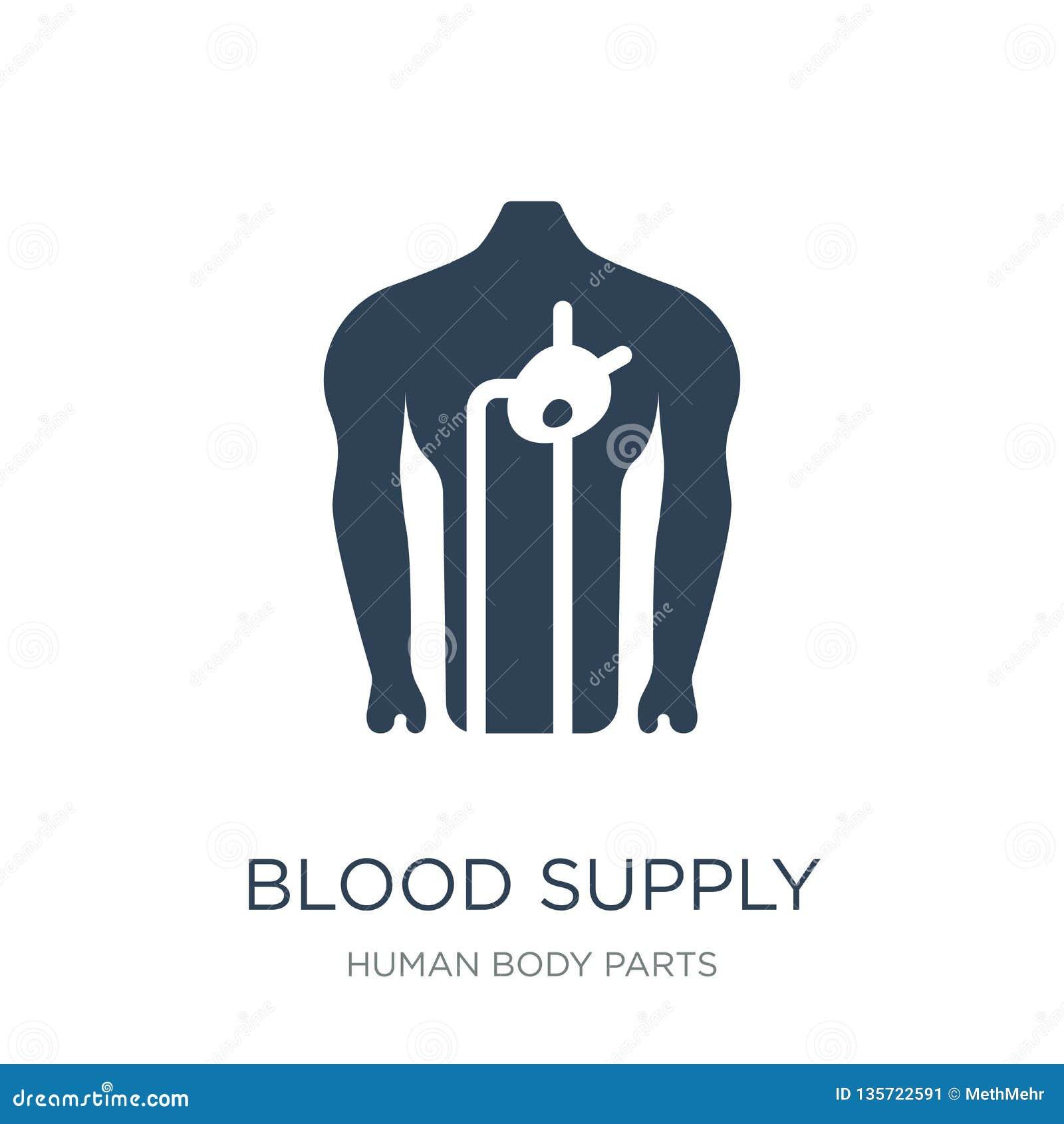 Krwionośna zaopatrzeniowego systemu ikona w modnym projekta stylu Krwionośna Zaopatrzeniowego systemu ikona odizolowywająca na bi