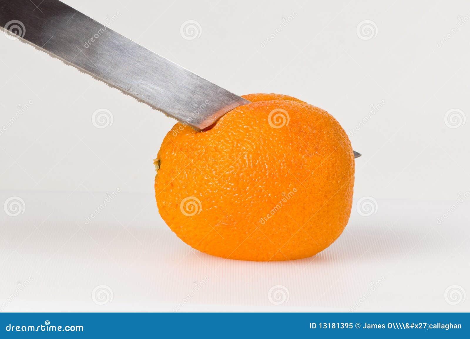 Krwionośnej pomarańcze przecinanie
