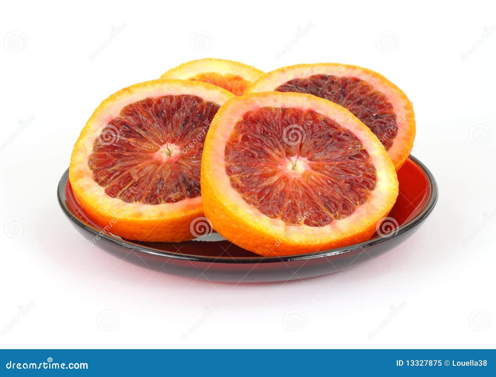 Krwionośnych pomarańcz półkowa czerwień