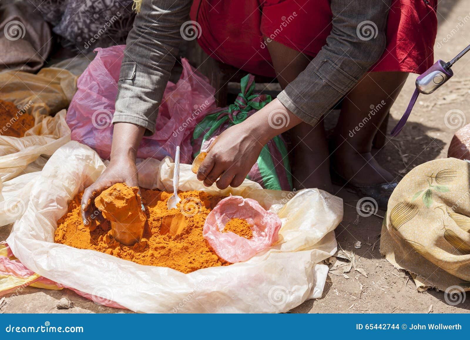 Kryddasäljare i Etiopien