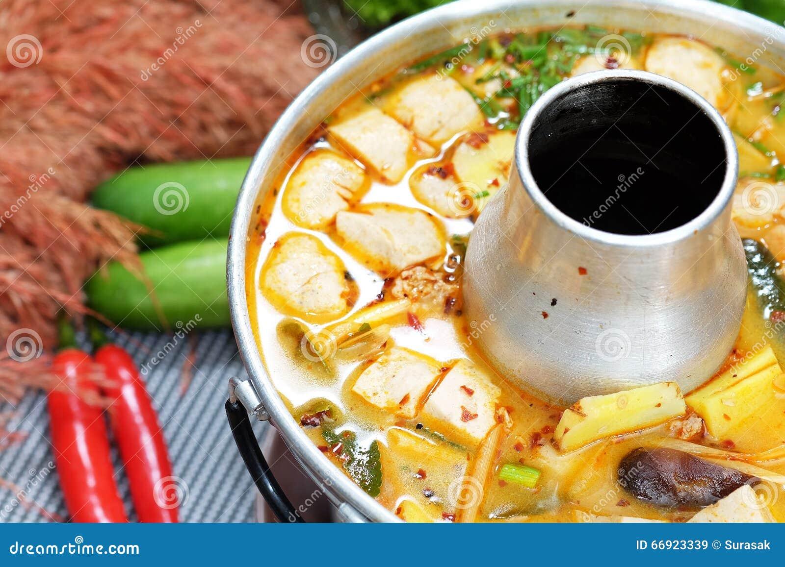 Kryddig grisköttsoppa
