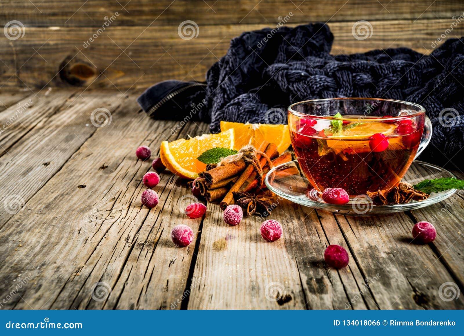 Kryddigt te för tranbär