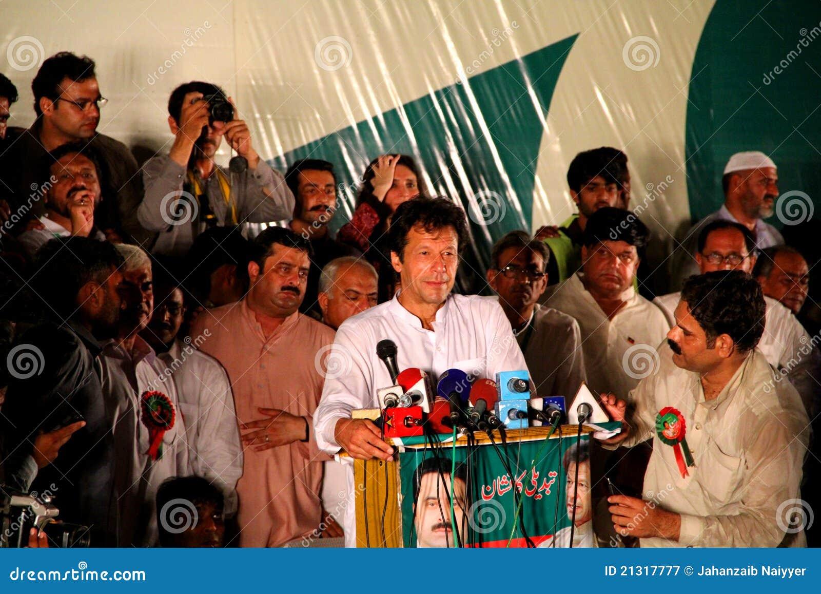 Krykiecisty Imran khan polityk obracający