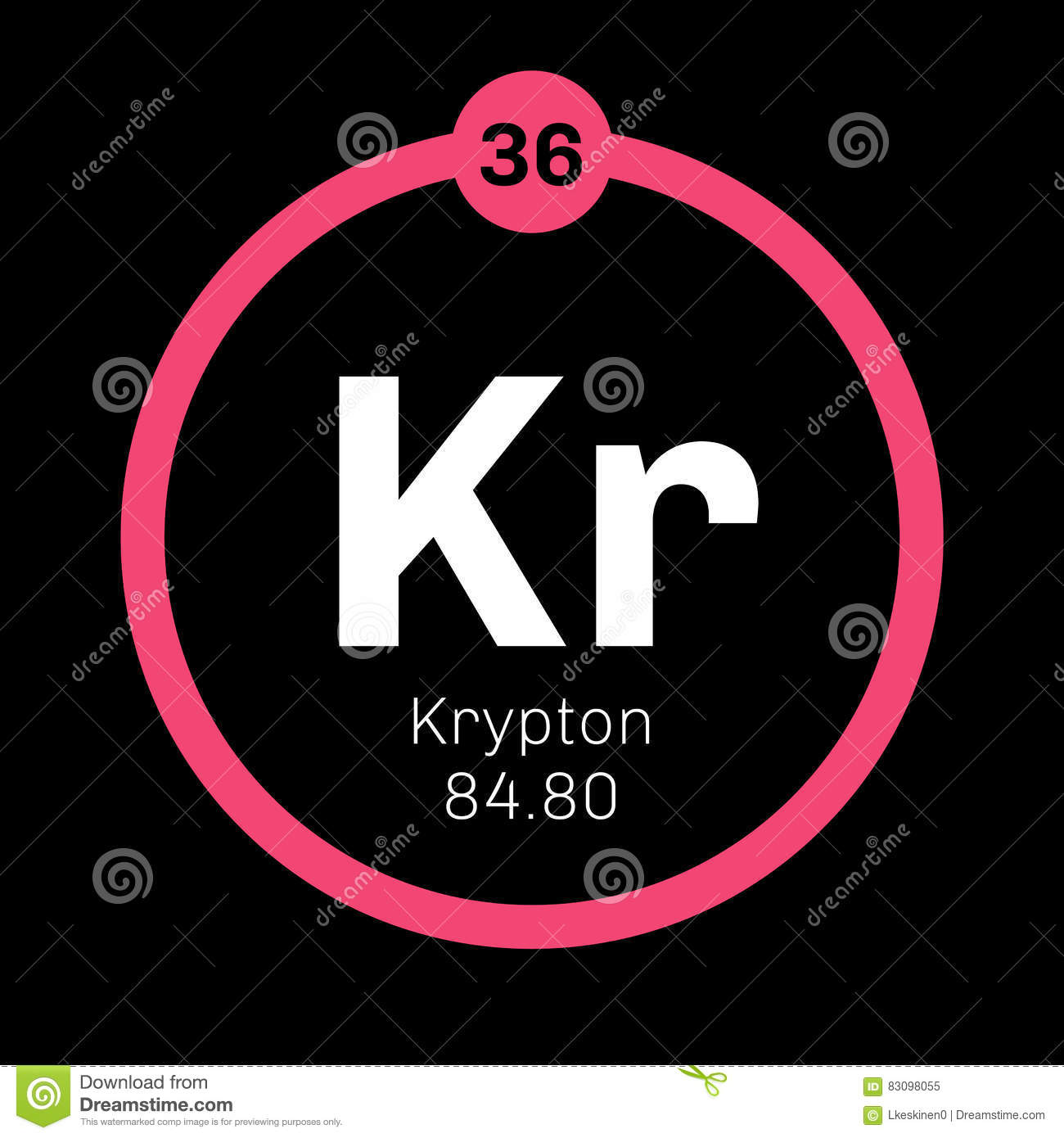 Krypton chemical element stock vector image of science 83098055 royalty free vector gamestrikefo Images