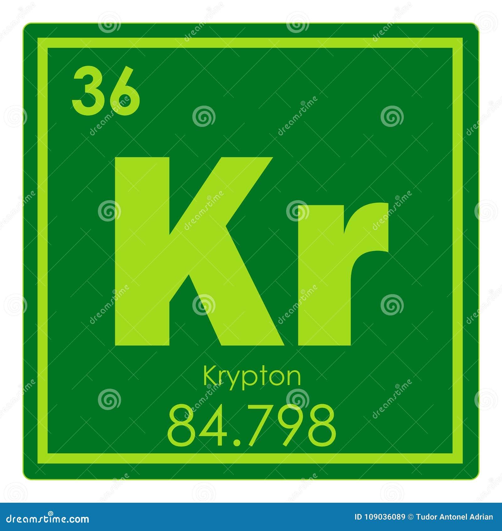 Krypton chemical element stock illustration illustration of geek krypton chemical element urtaz Choice Image