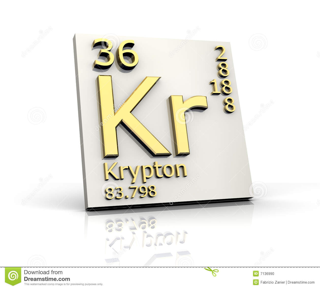 Krypton Element Periodic Table Krypton Form Periodic ...