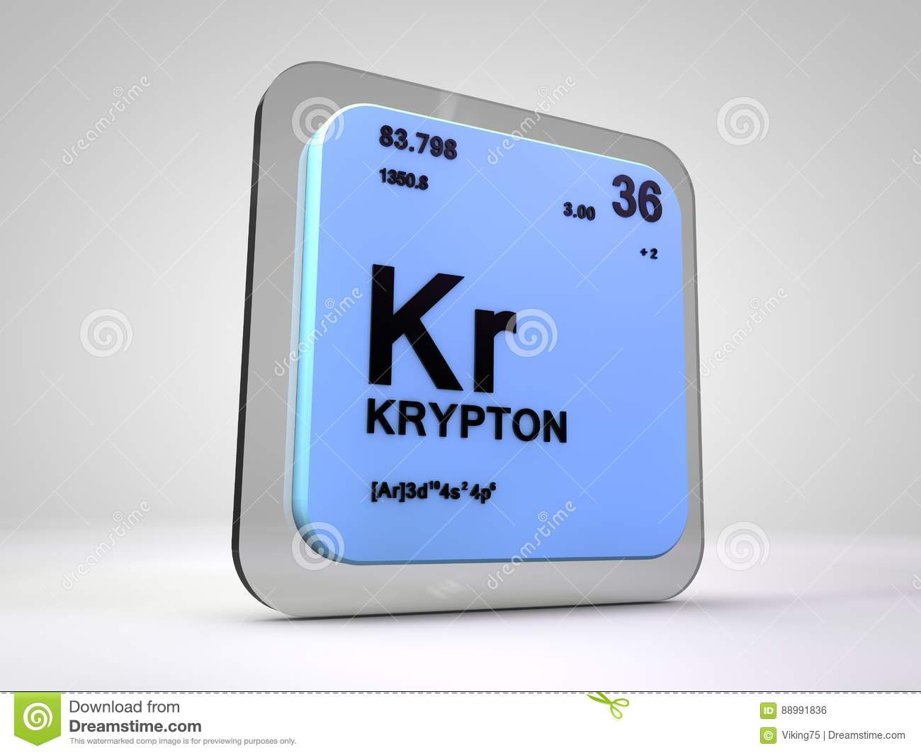 Krypton kr chemical element periodic table stock illustration krypton kr chemical element periodic table buycottarizona