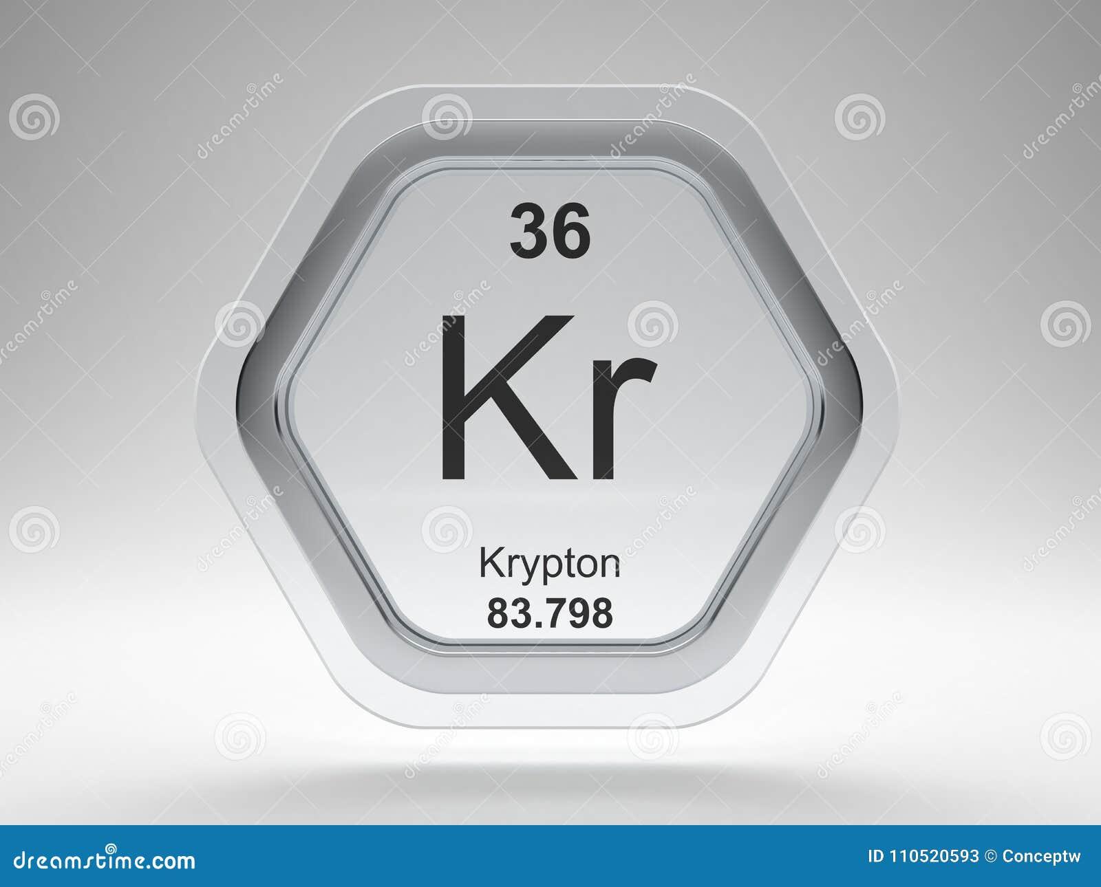 Krypton symbol on modern glass and steel icon stock illustration krypton symbol from periodic table on modern glass and steel icon urtaz Gallery