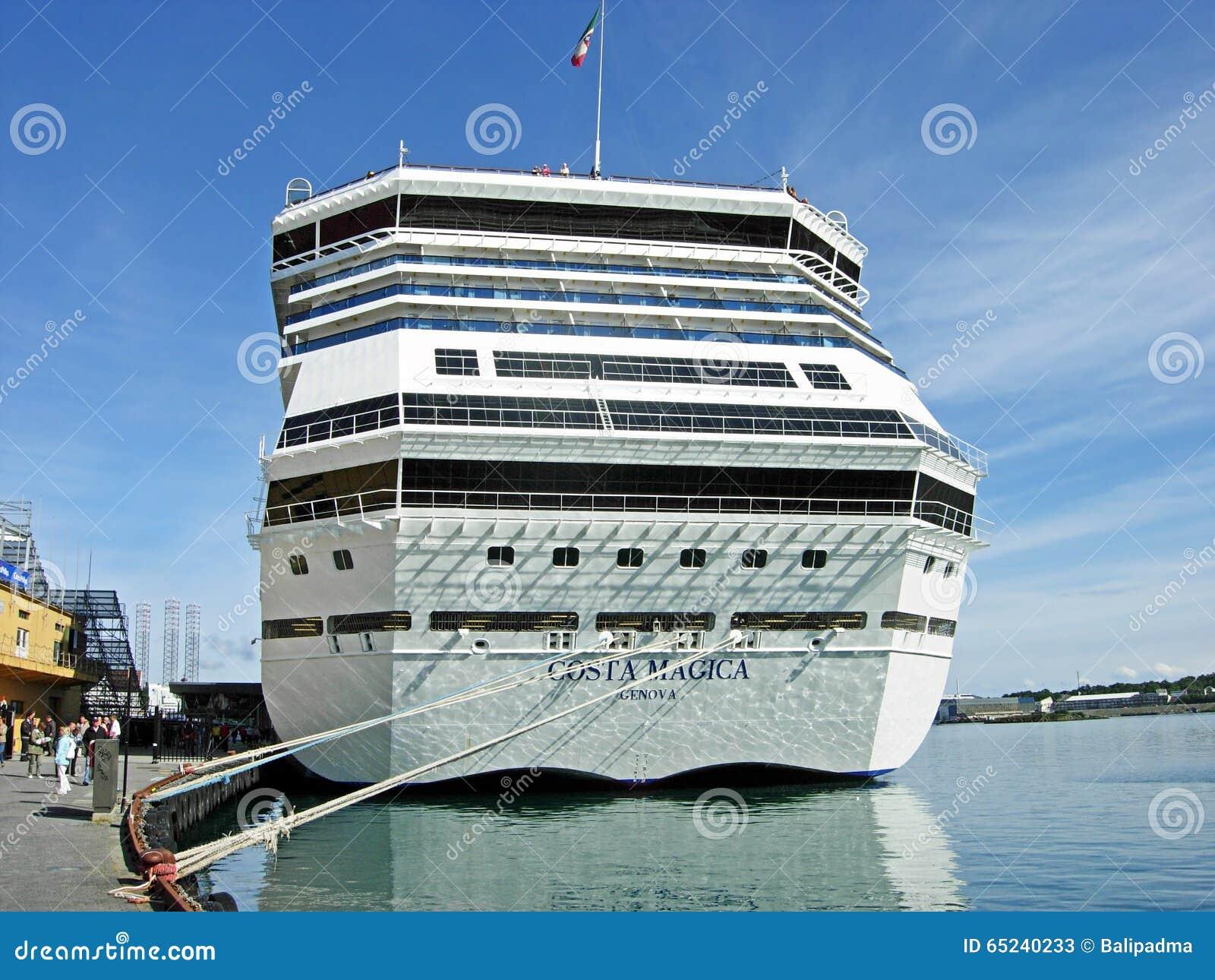 Kryssning sänder Costa Magica i Stavanger (Norge)