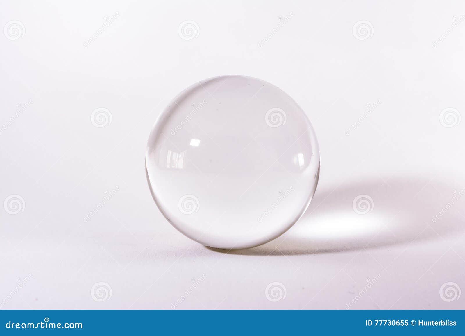Krystalicznego szkła sfery przedmiota tła Balowy Przejrzysty Biały Prosty światło