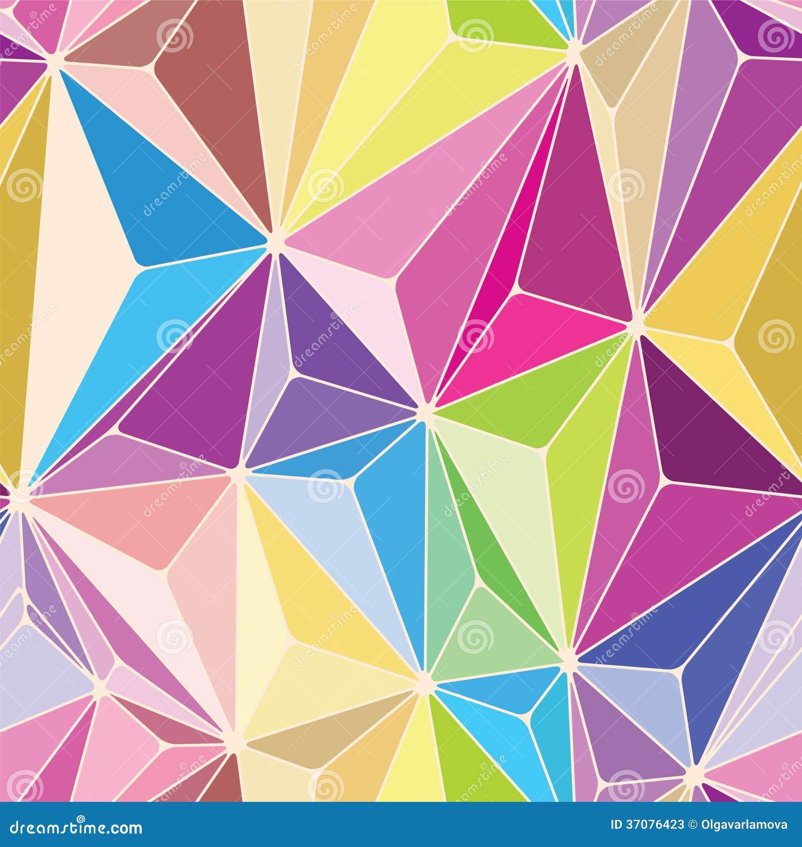 Download Kryształu Bezszwowy wzór ilustracja wektor. Ilustracja złożonej z chaos - 37076423