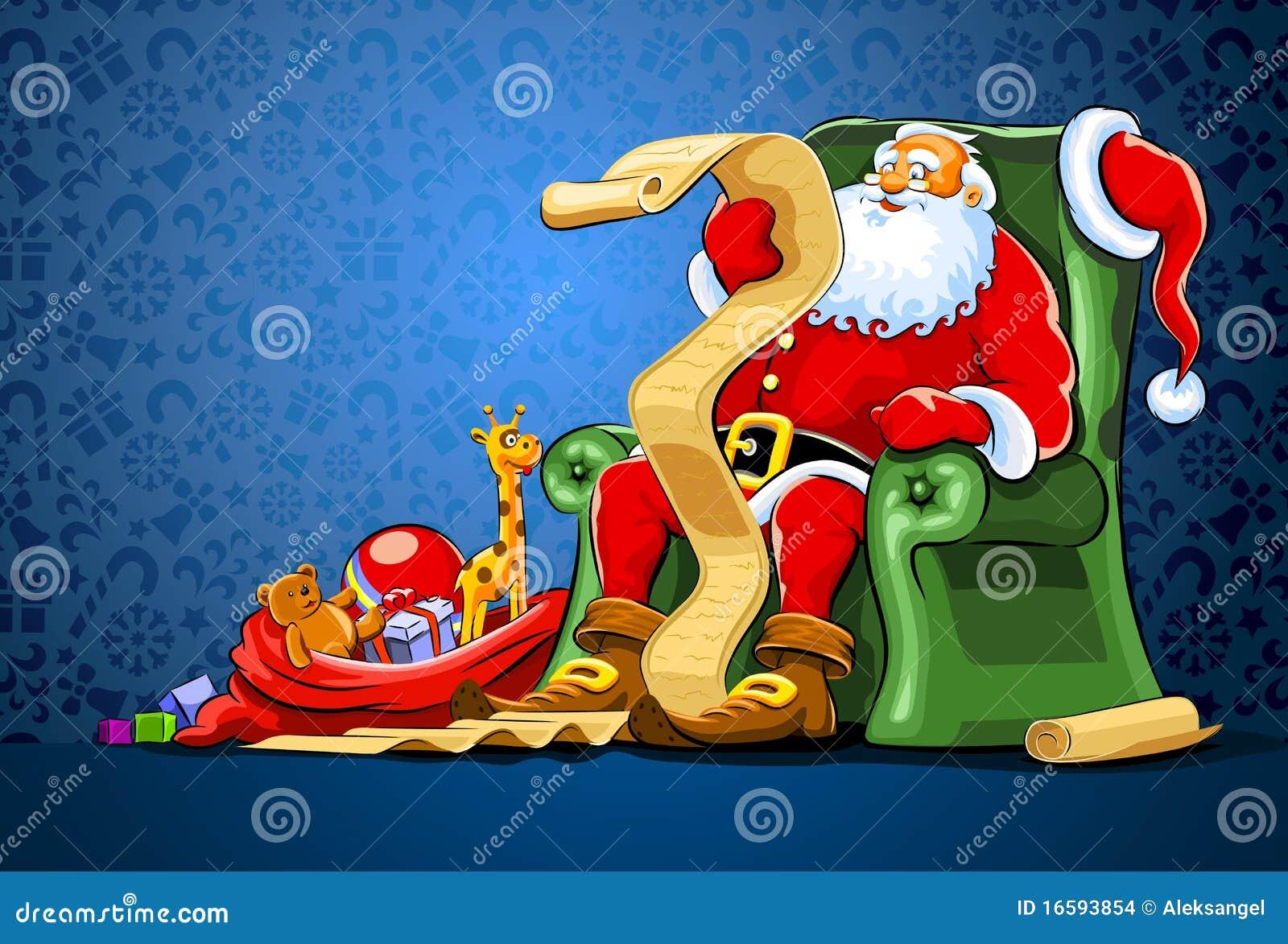 Krzesła Claus prezenta worka Santa obsiadanie