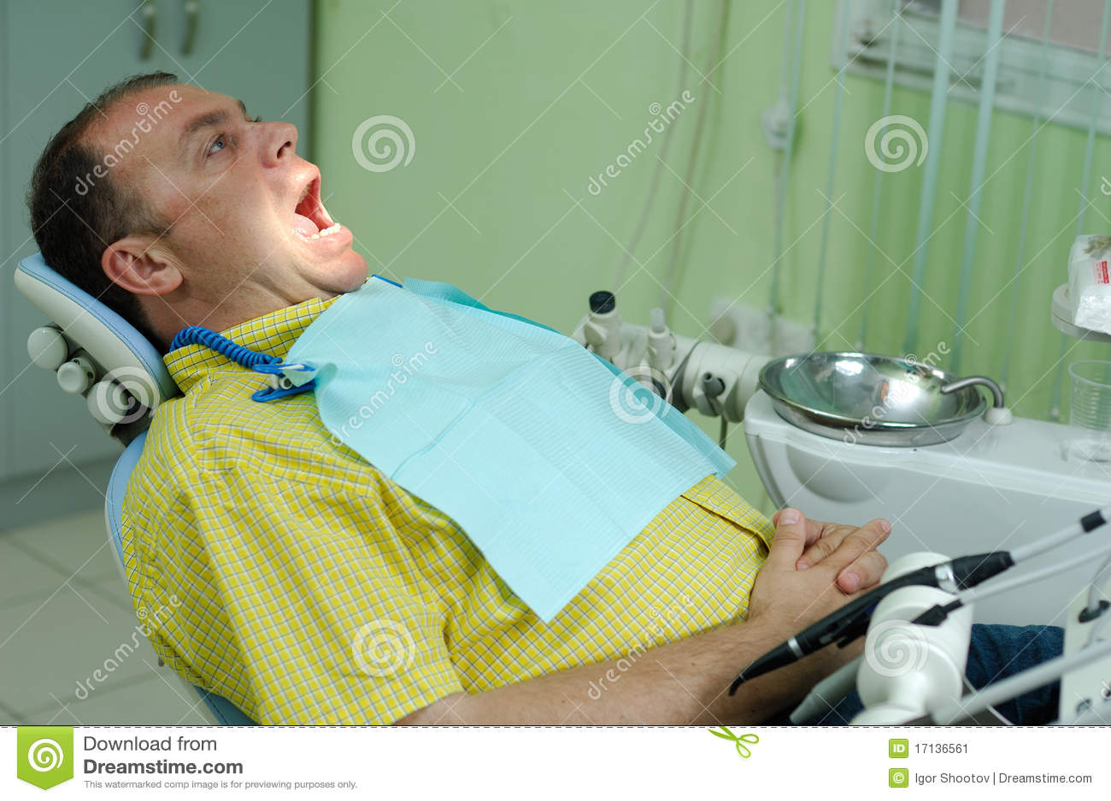Krzesła dentysty pacjent