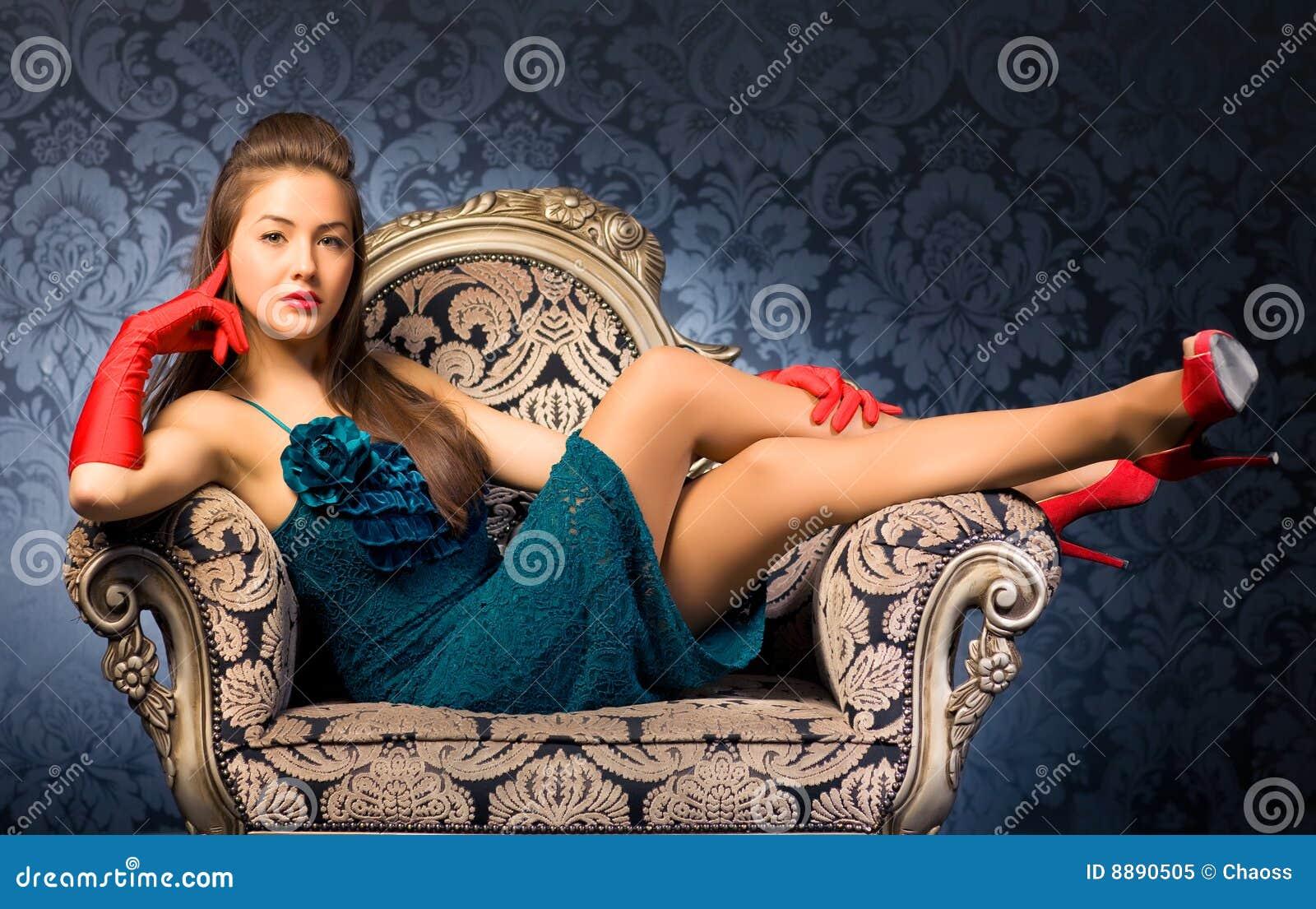 Krzesła kobiety potomstwa