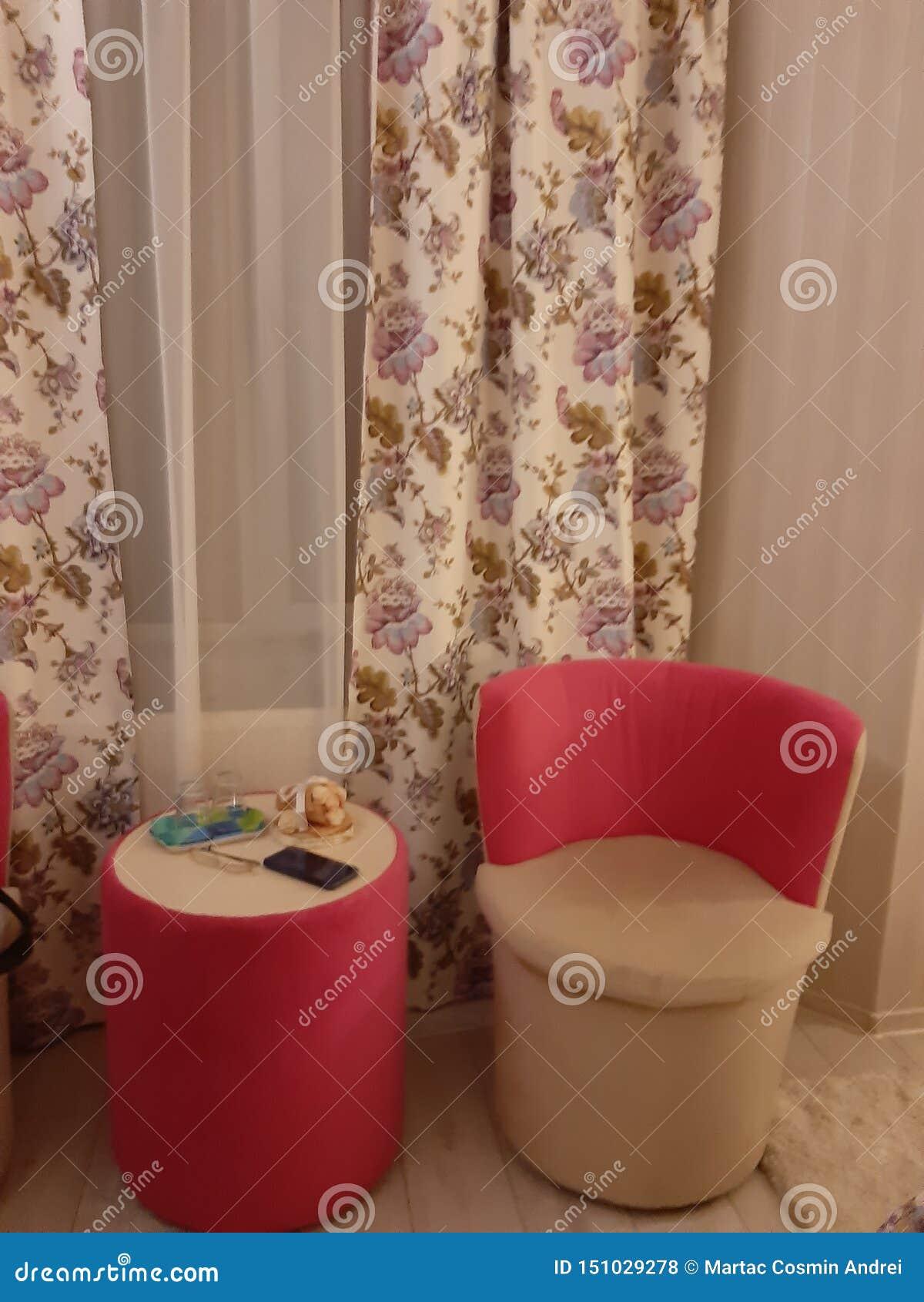 Krzesło pokoju luksusowy hotel