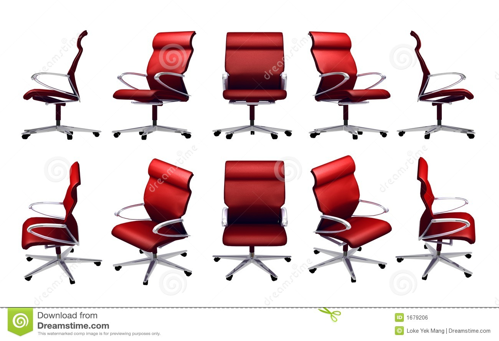 Krzesło urzędu ilustracji. Ilustracja złożonej z chrom 1679206