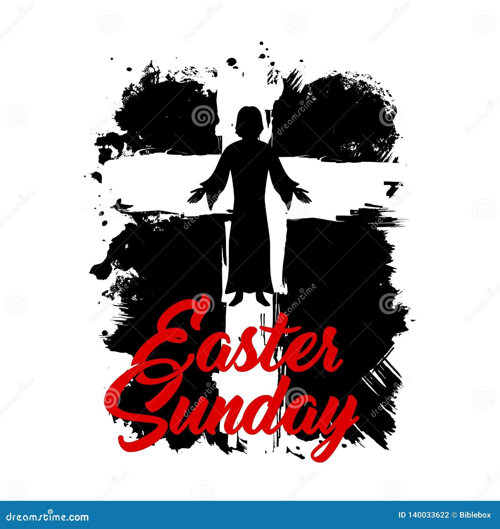 Krzyż jezus chrystus Wielkanocnej Niedzieli ilustracja