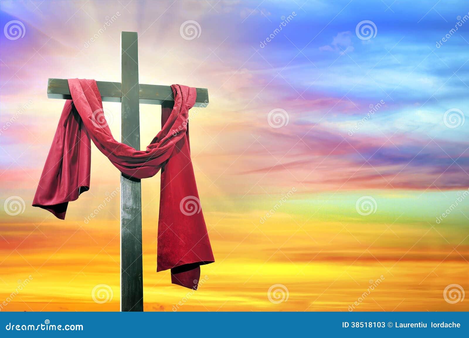 Krzyż na nieba tle
