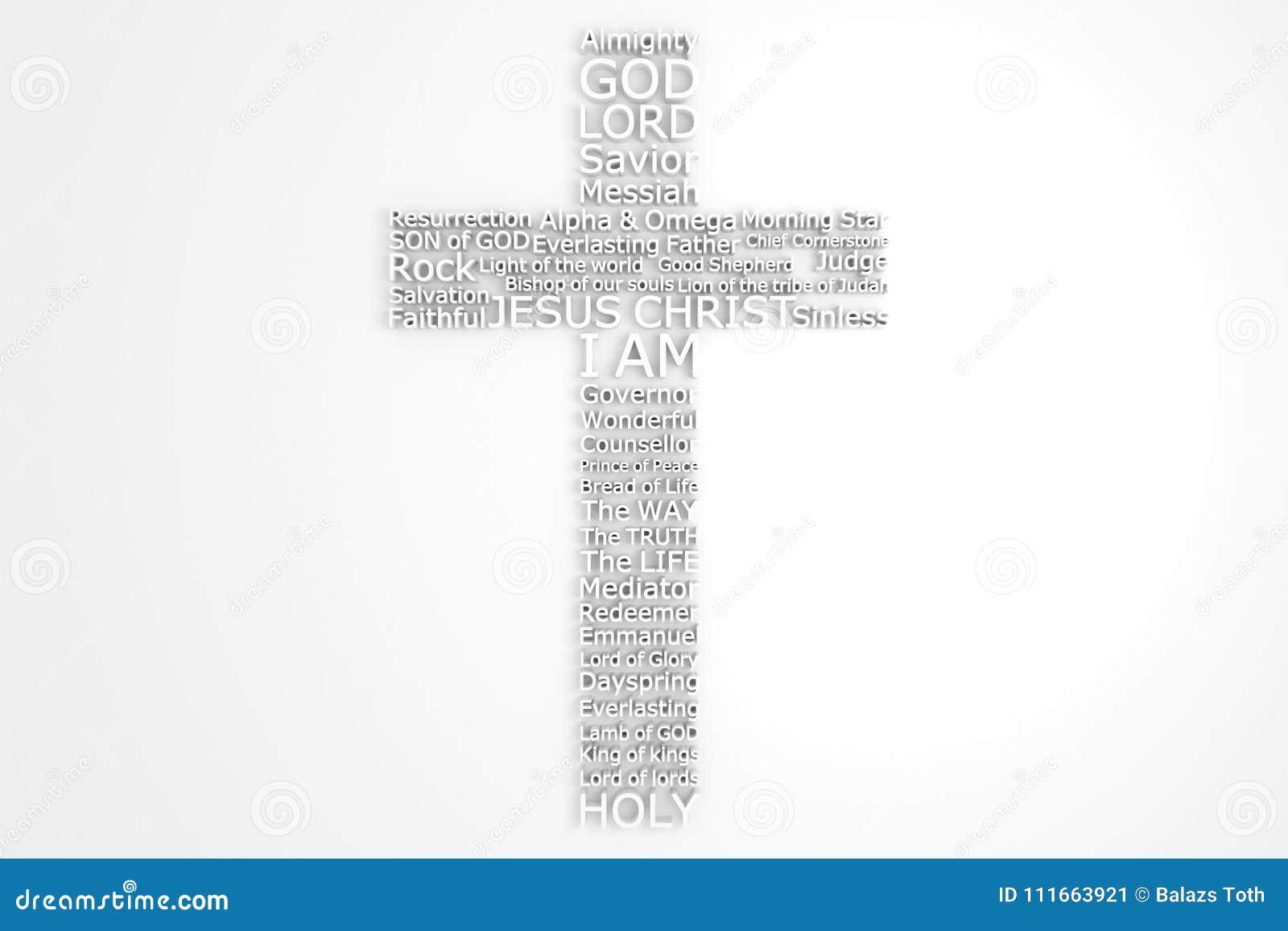 Krzyż Z Biblijnymi imionami jezus chrystus