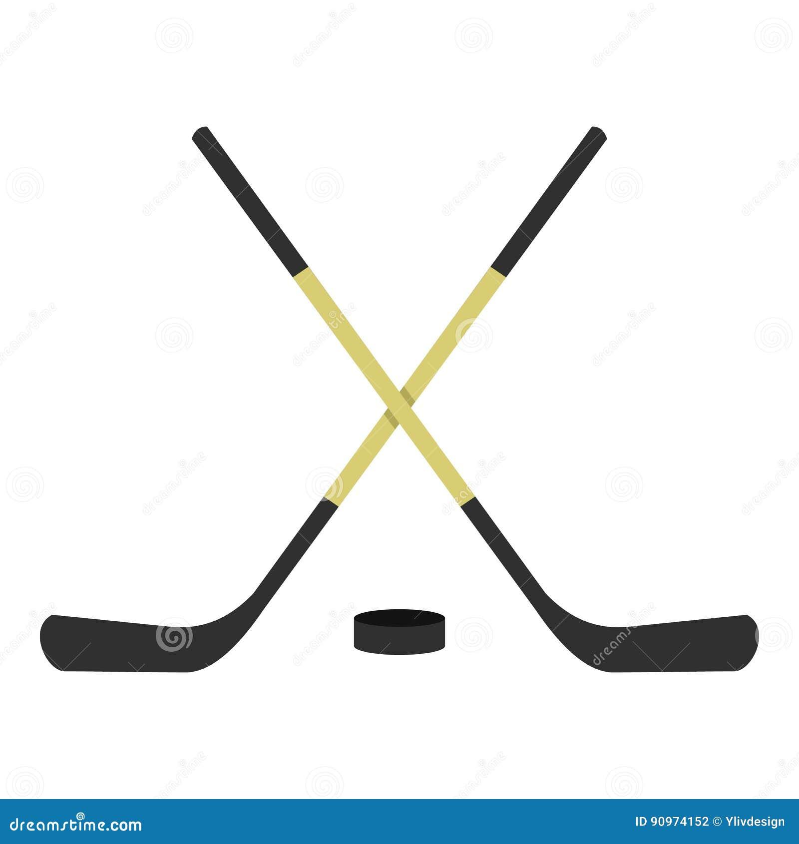 Krzyżująca hokejowych kijów ikona odizolowywająca