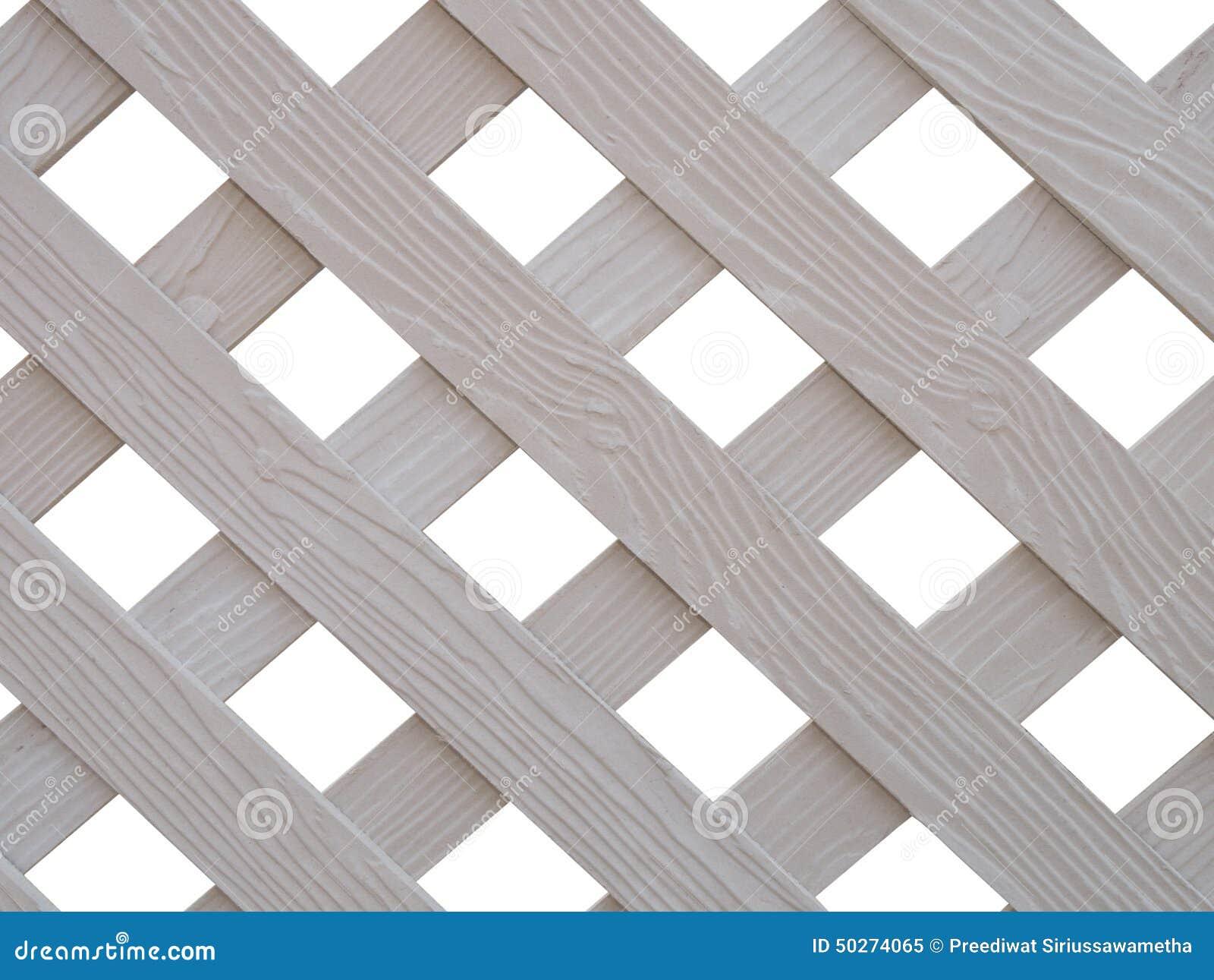 Krzyżujący biały drewniany lath
