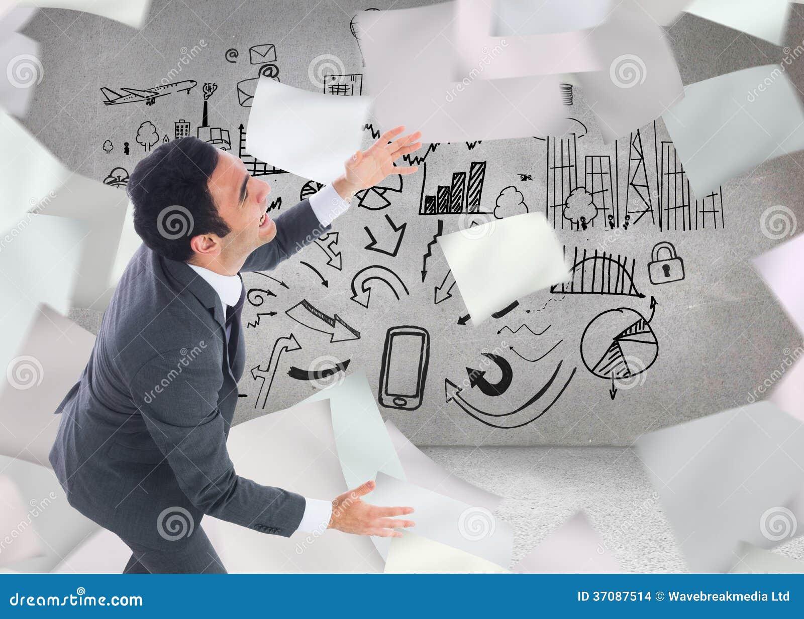 Download Krzyczący Biznesmena łapanie Zdjęcie Stock - Obraz złożonej z zakupy, muzyka: 37087514