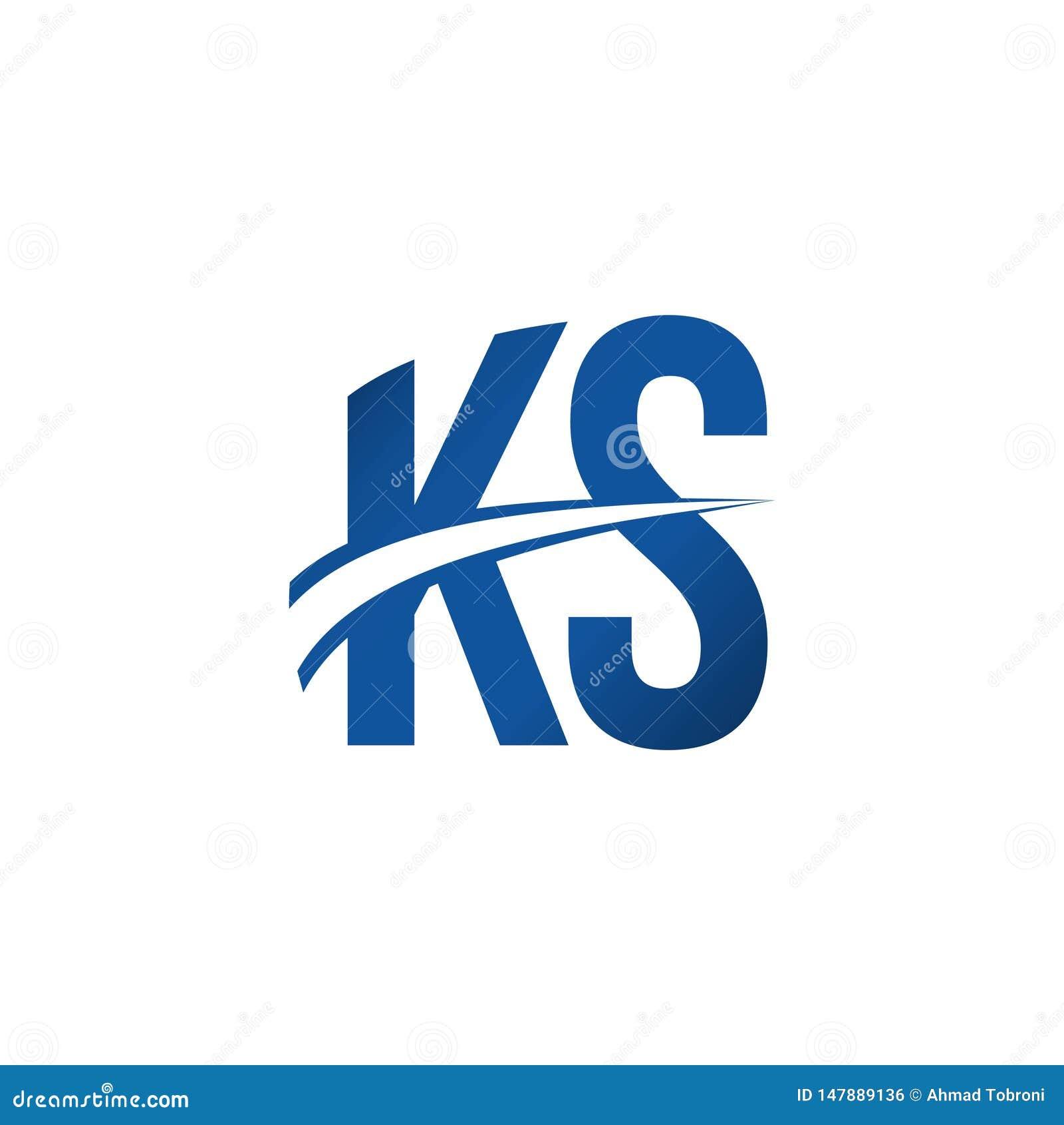 Ks Logo Vector Template Design Illustration Stock Vector