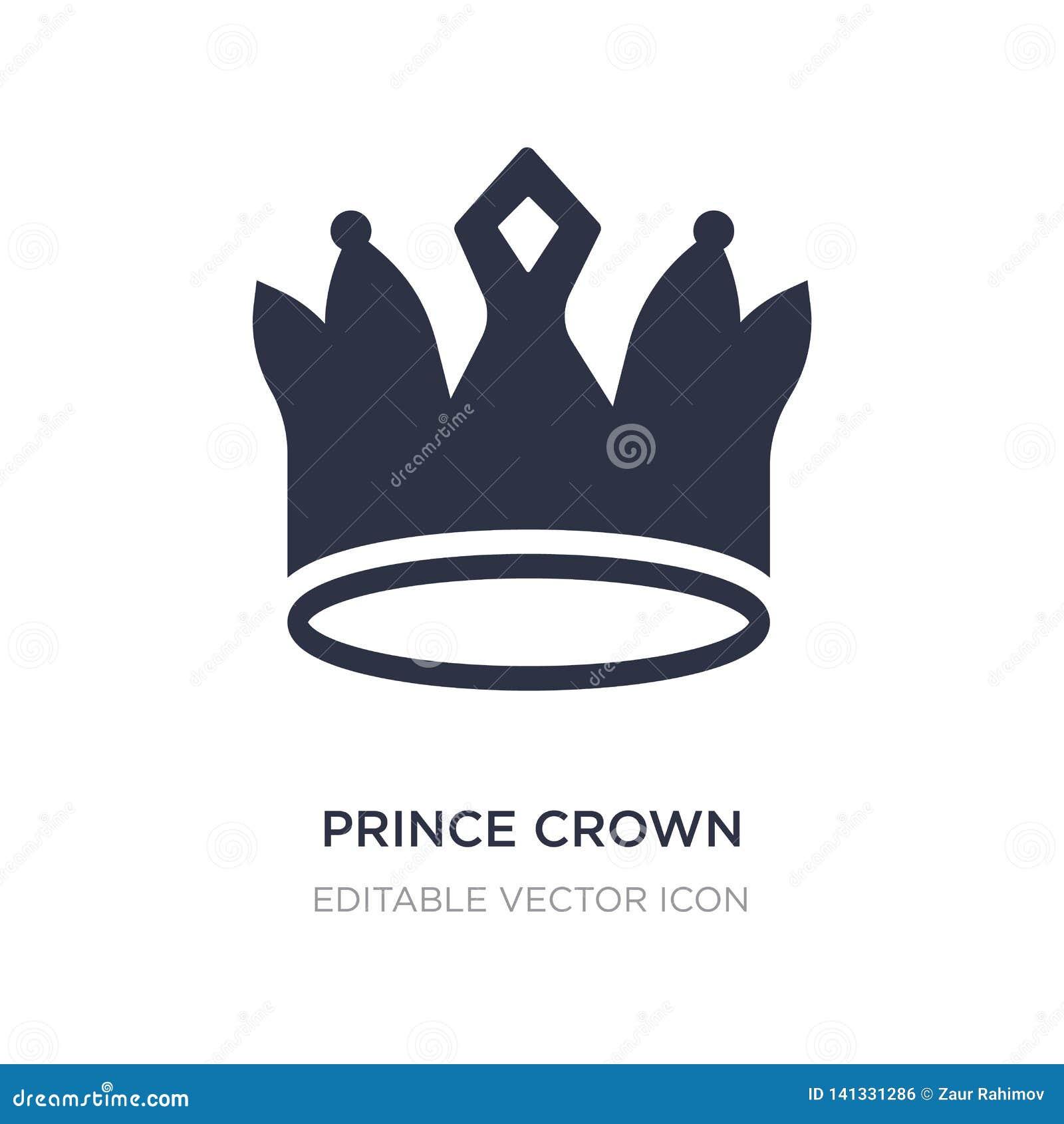 Książe korony ikona na białym tle Prosta element ilustracja od kształta pojęcia