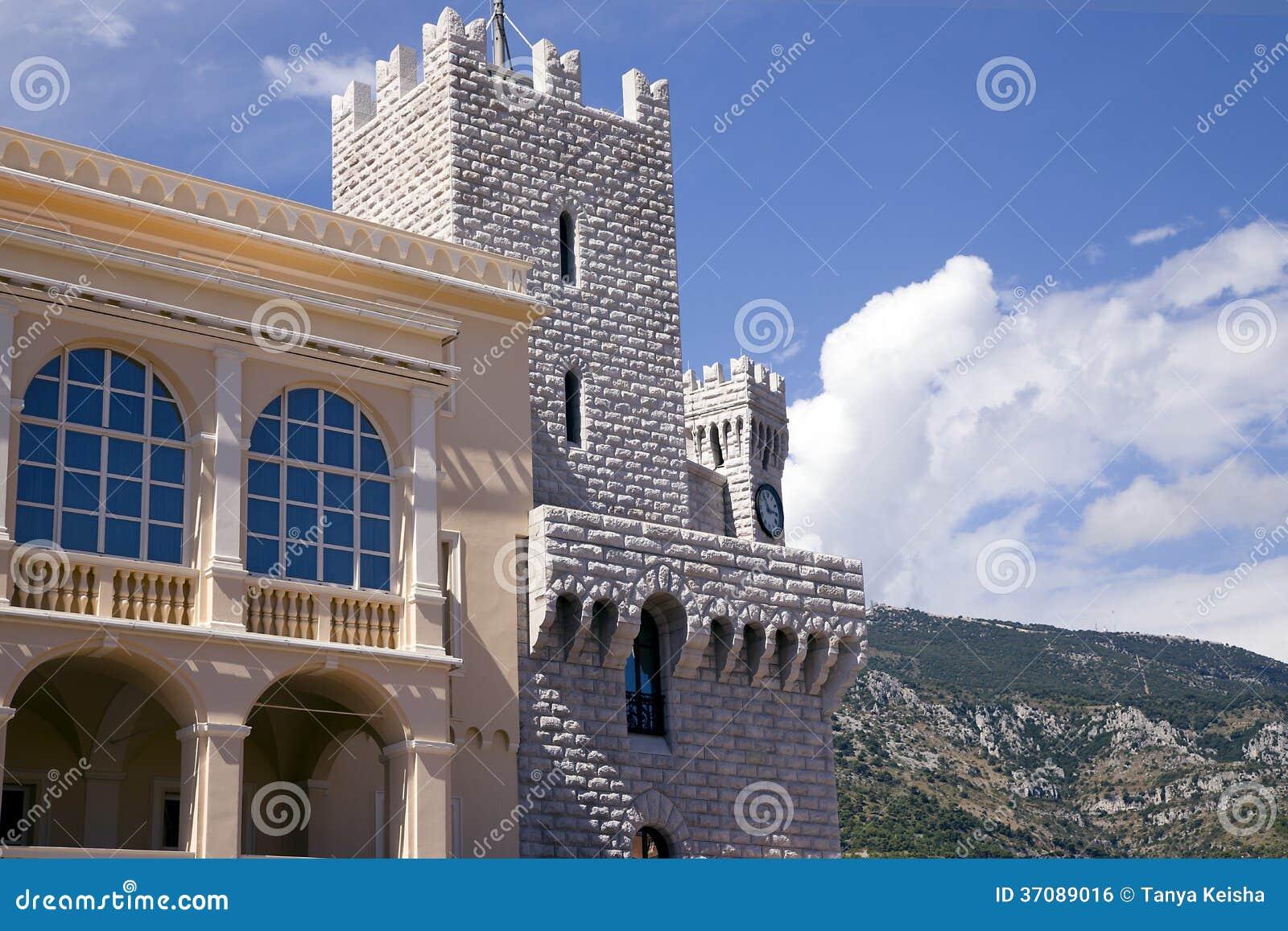 Download Książe Reinier Pałac W Monaco Zdjęcie Stock - Obraz złożonej z średniowieczny, chateau: 37089016