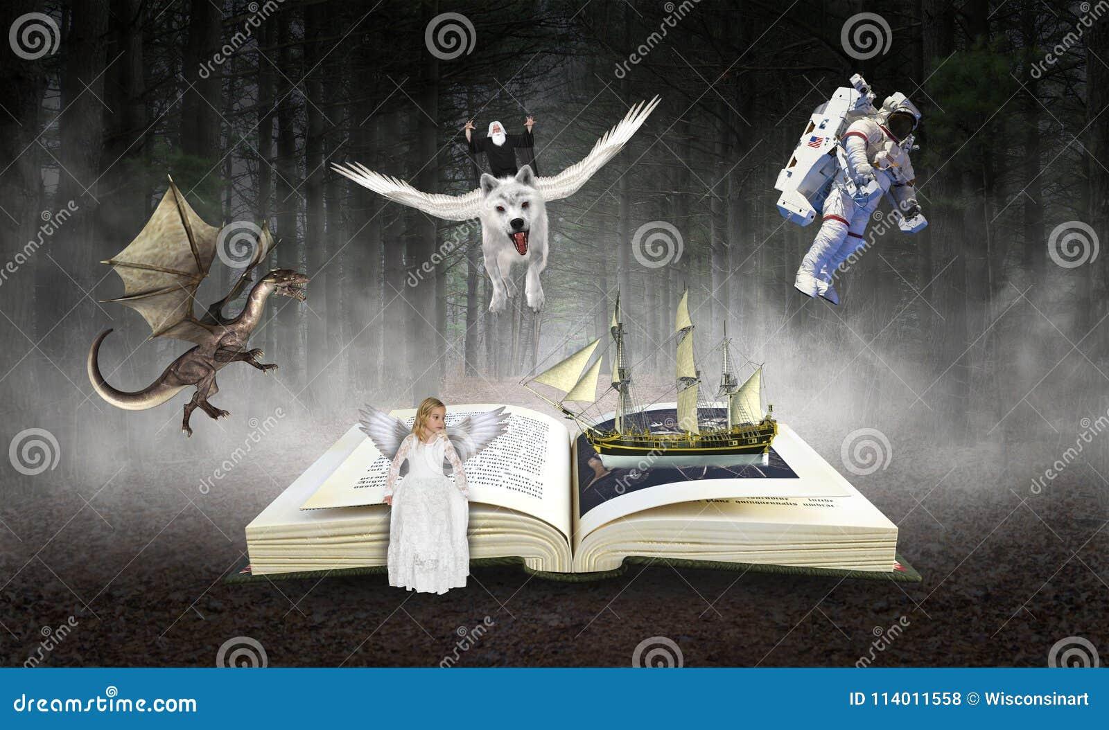Książka, czytanie, wyobraźnia, Storybook, opowieści