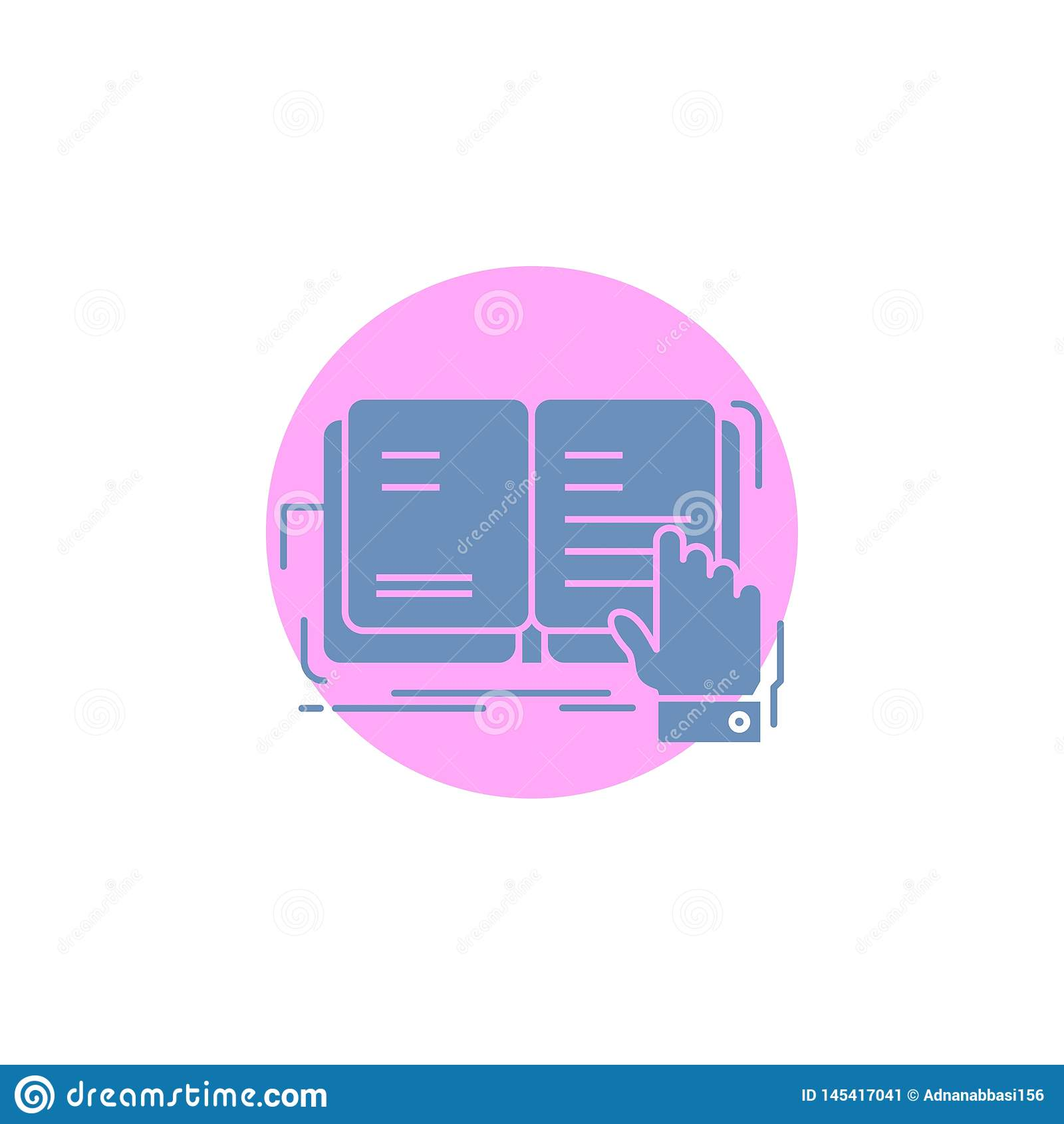 Książka, lekcja, nauka, literatura, czytelnicza glif ikona