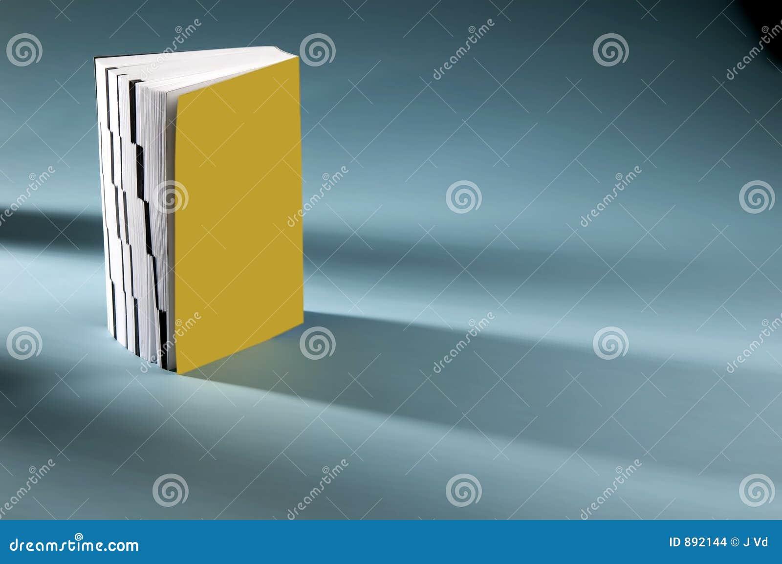 Książka pojedynczy żółty