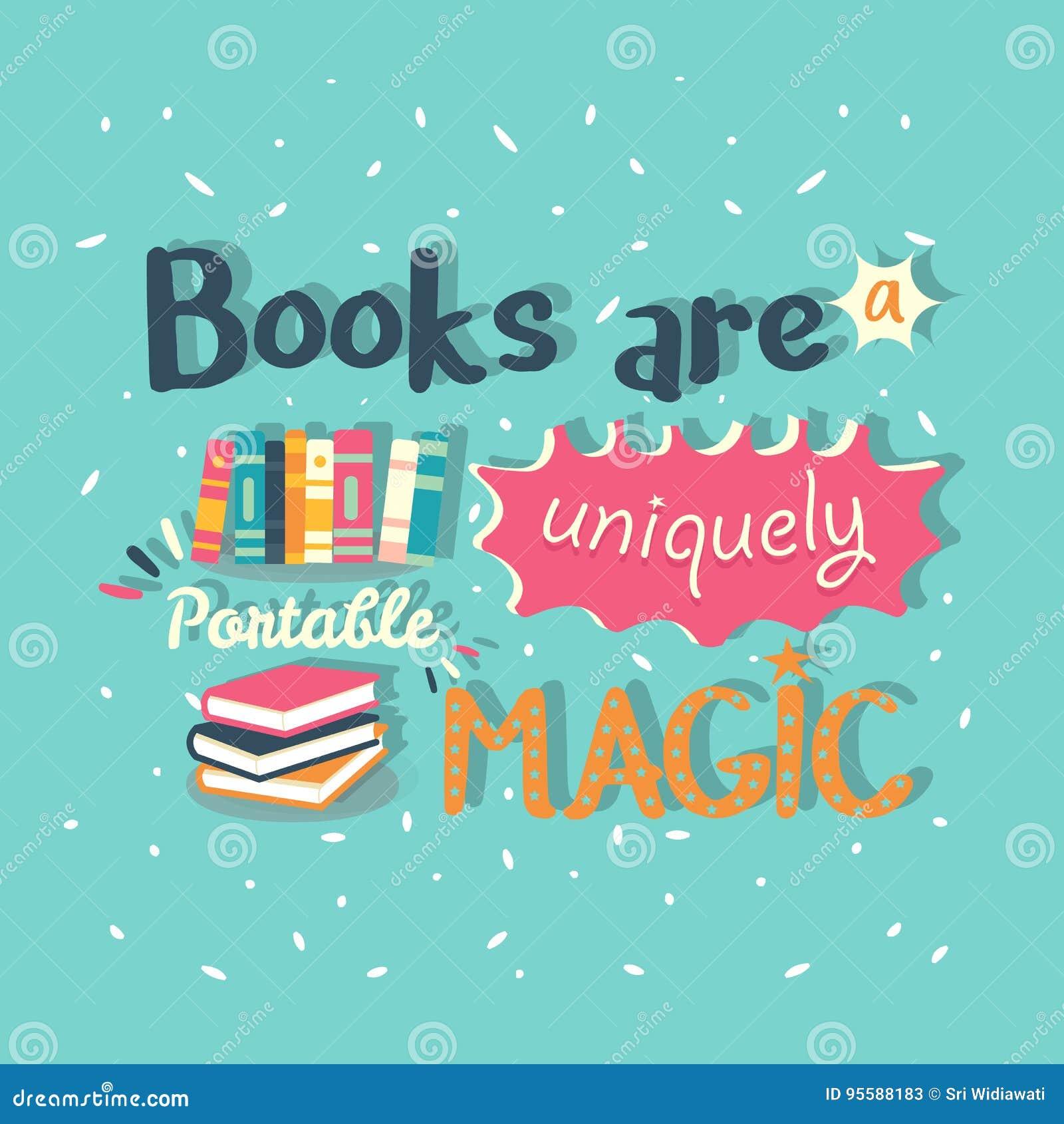 Książki są wyjątkowo przenośnym magicznym wycena motywaci plakatem