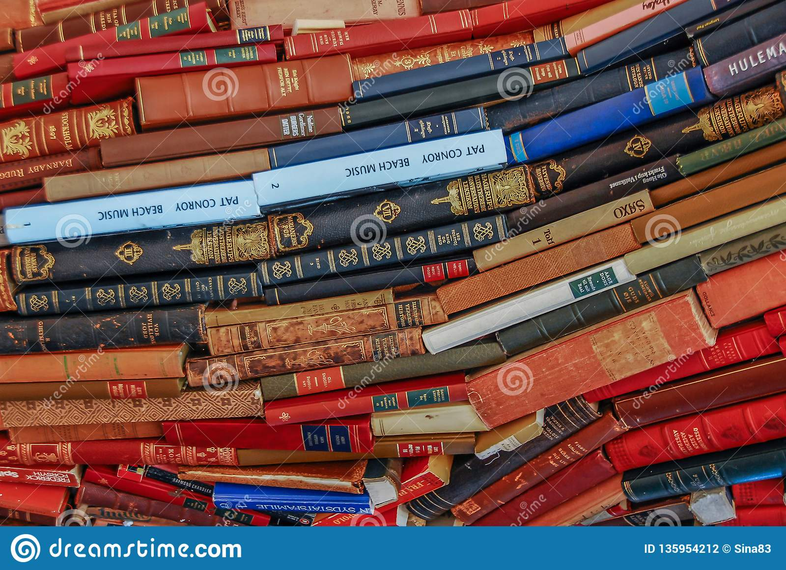 Książkowa duża barwiona sterta