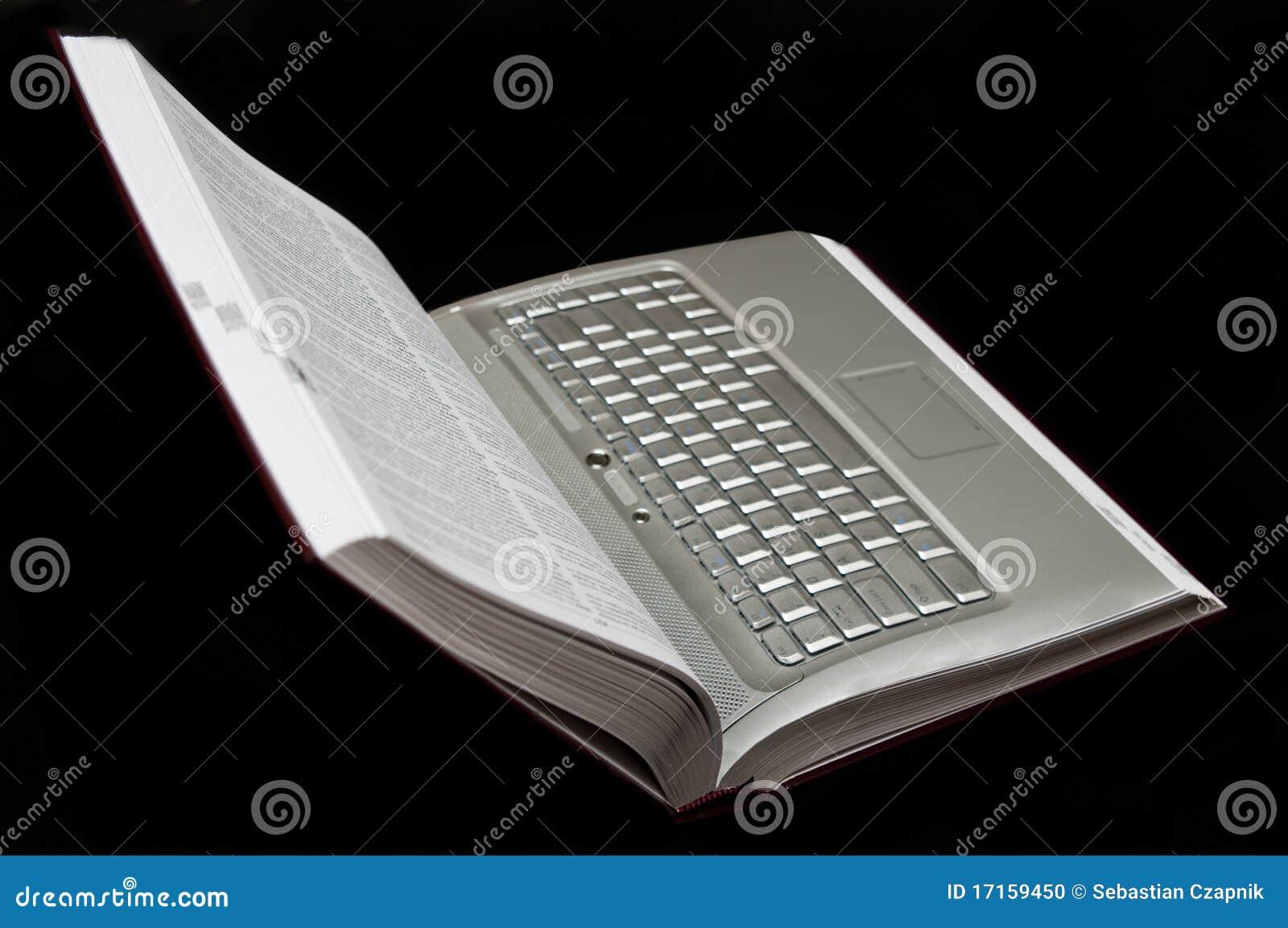 Książkowy laptop