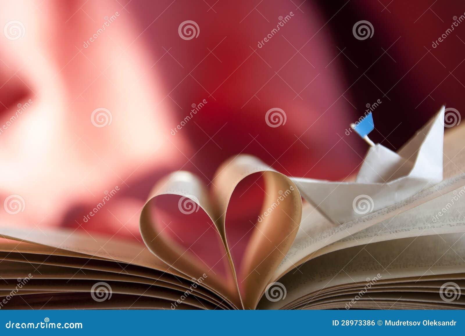Książkowy serce.
