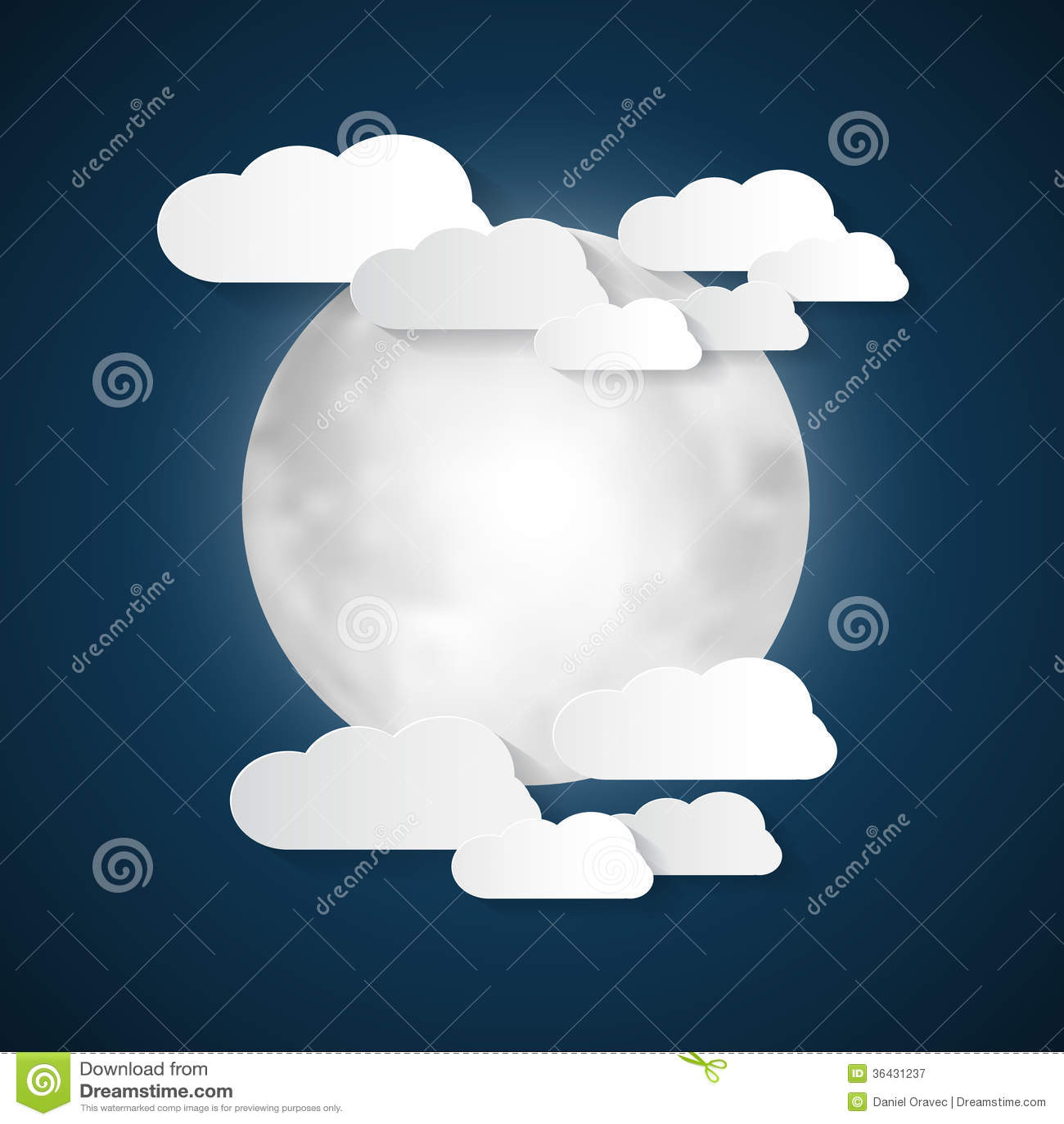 Księżyc i chmury