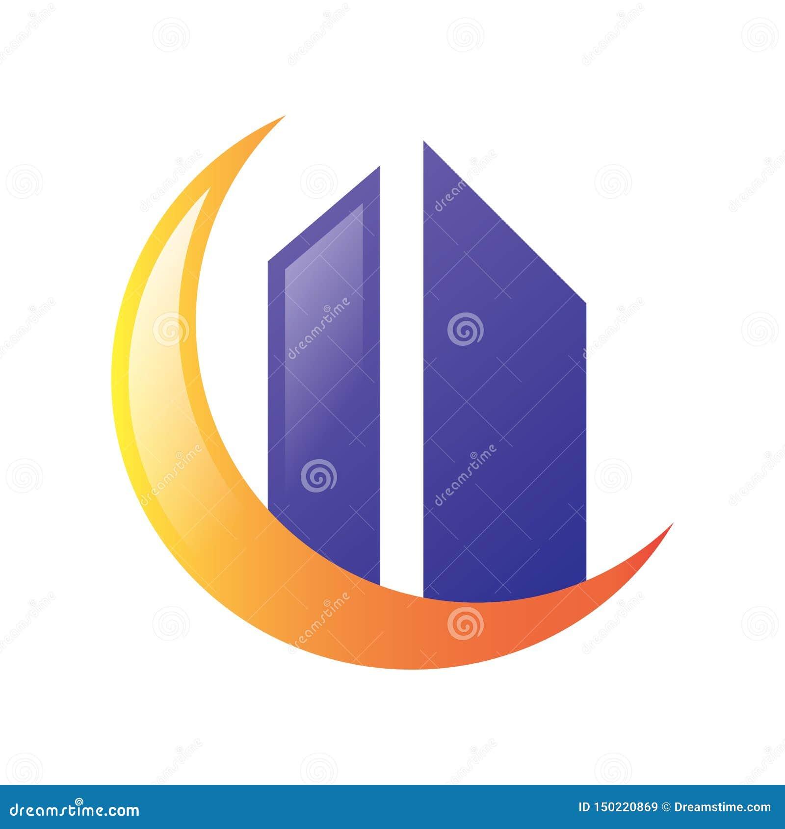 Księżyc Real Estate logo wektor