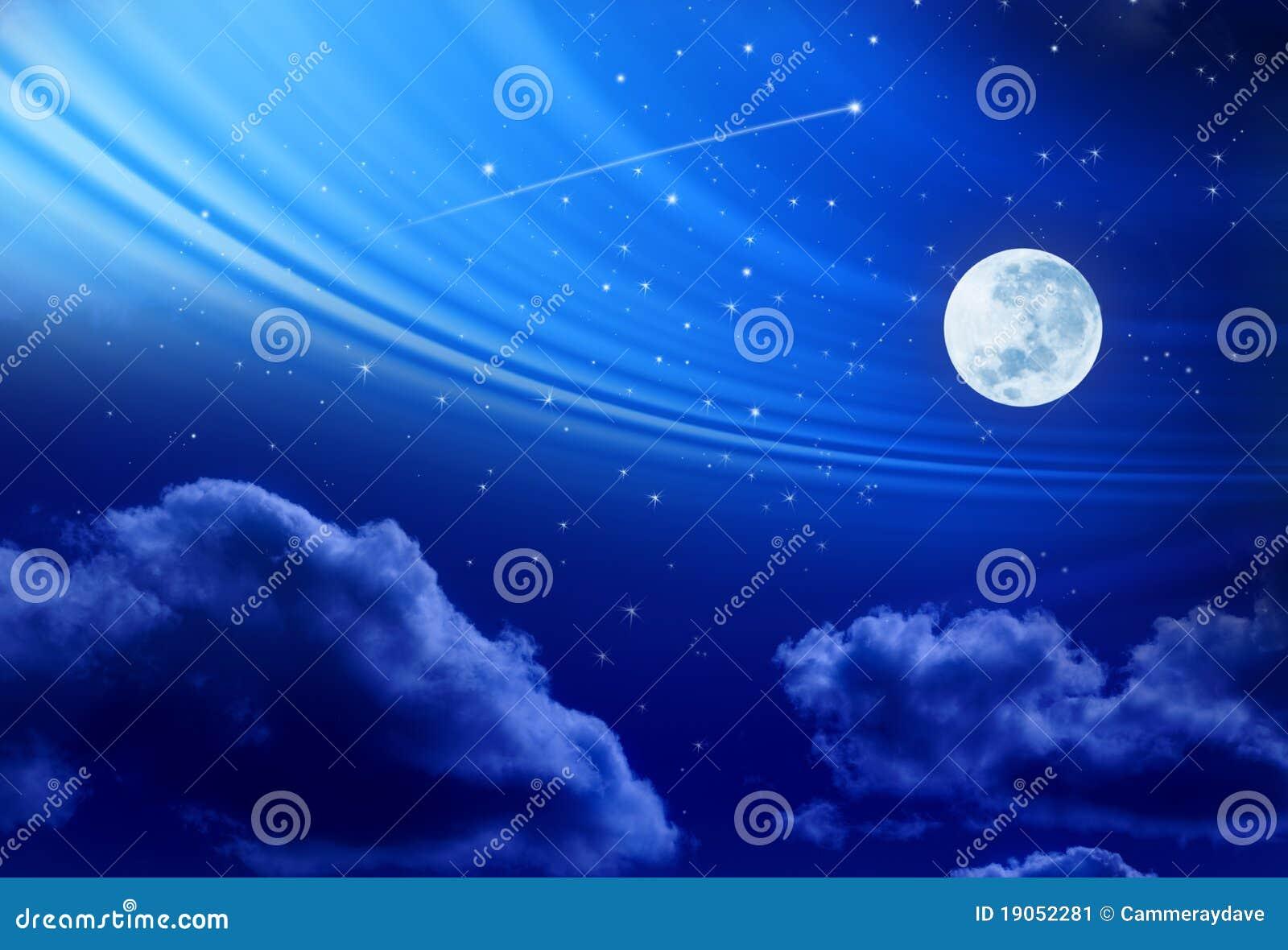 Księżyc w pełni nocne niebo