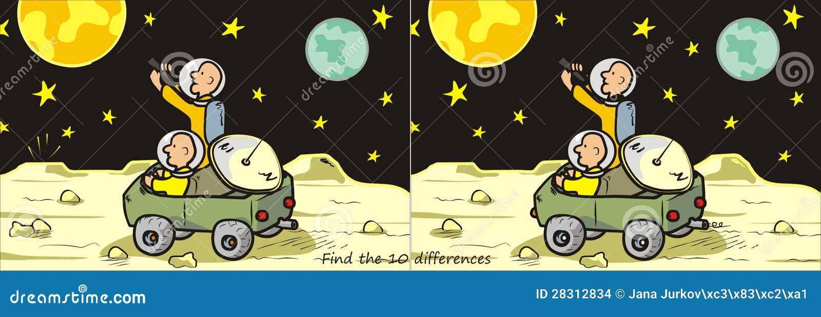 Księżyc znalezisko 10 różnic