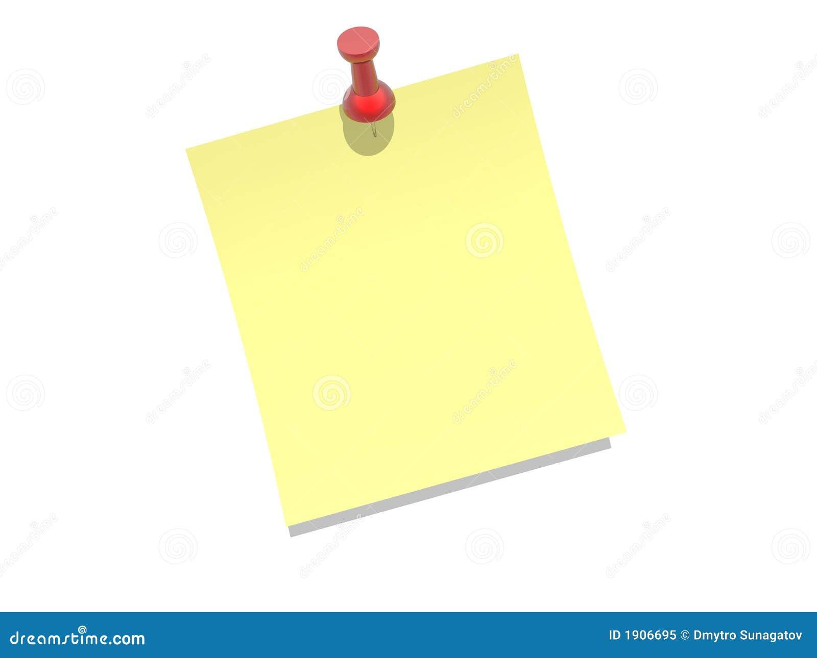 Księga tła biały przyczepiający żółty