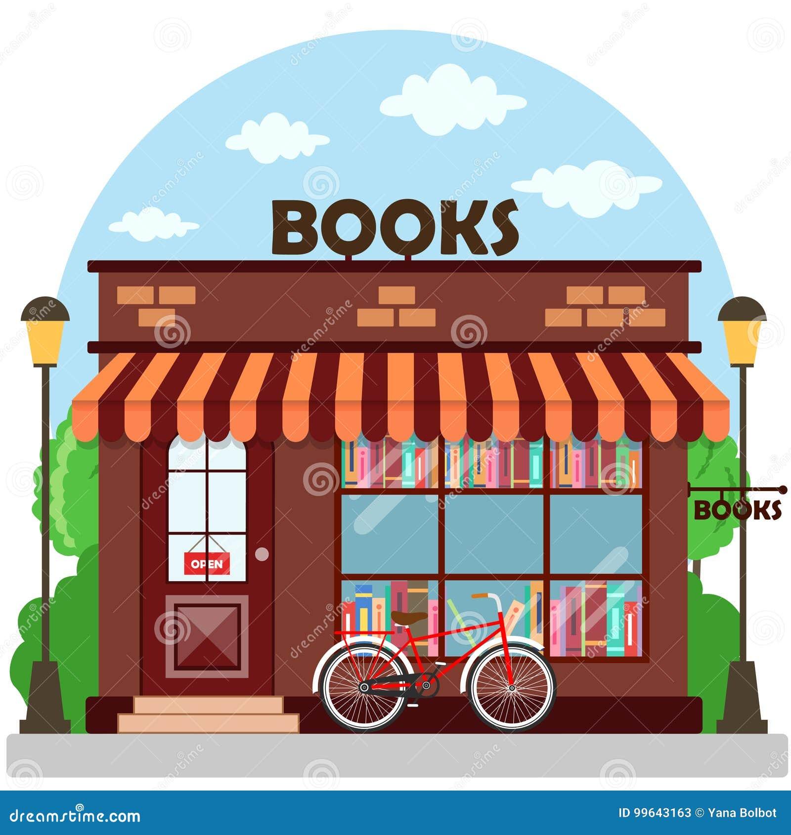 Księgarni bookstore budynku fasada