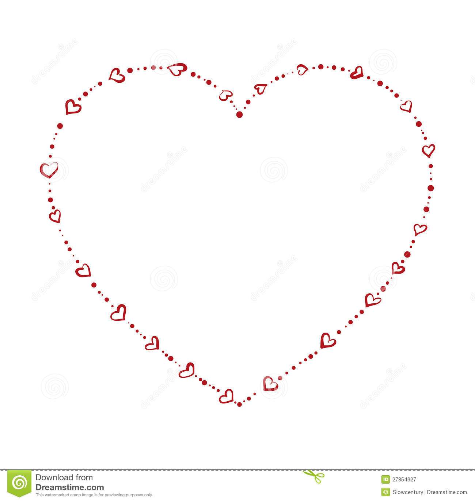 Kształtni serce koraliki